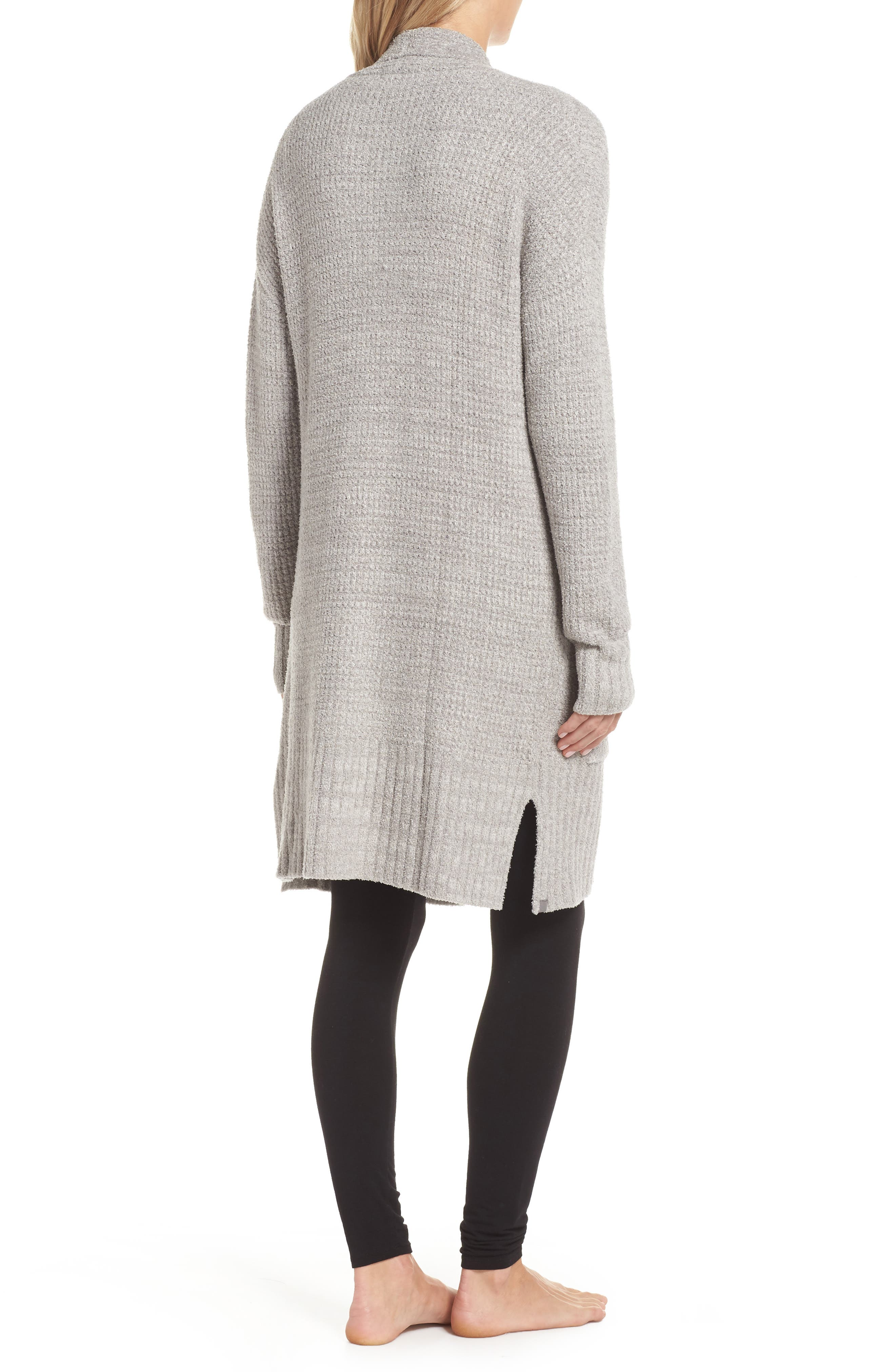CozyChic<sup>®</sup> Lite Long Weekend Cardigan,                             Alternate thumbnail 2, color,                             PEWTER/ SILVER