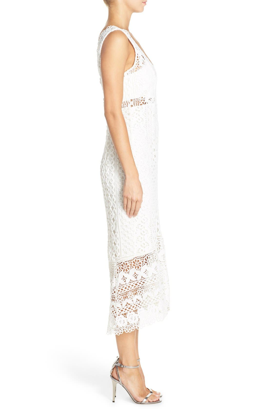 Odyssey Lace Midi Dress,                             Alternate thumbnail 2, color,                             110