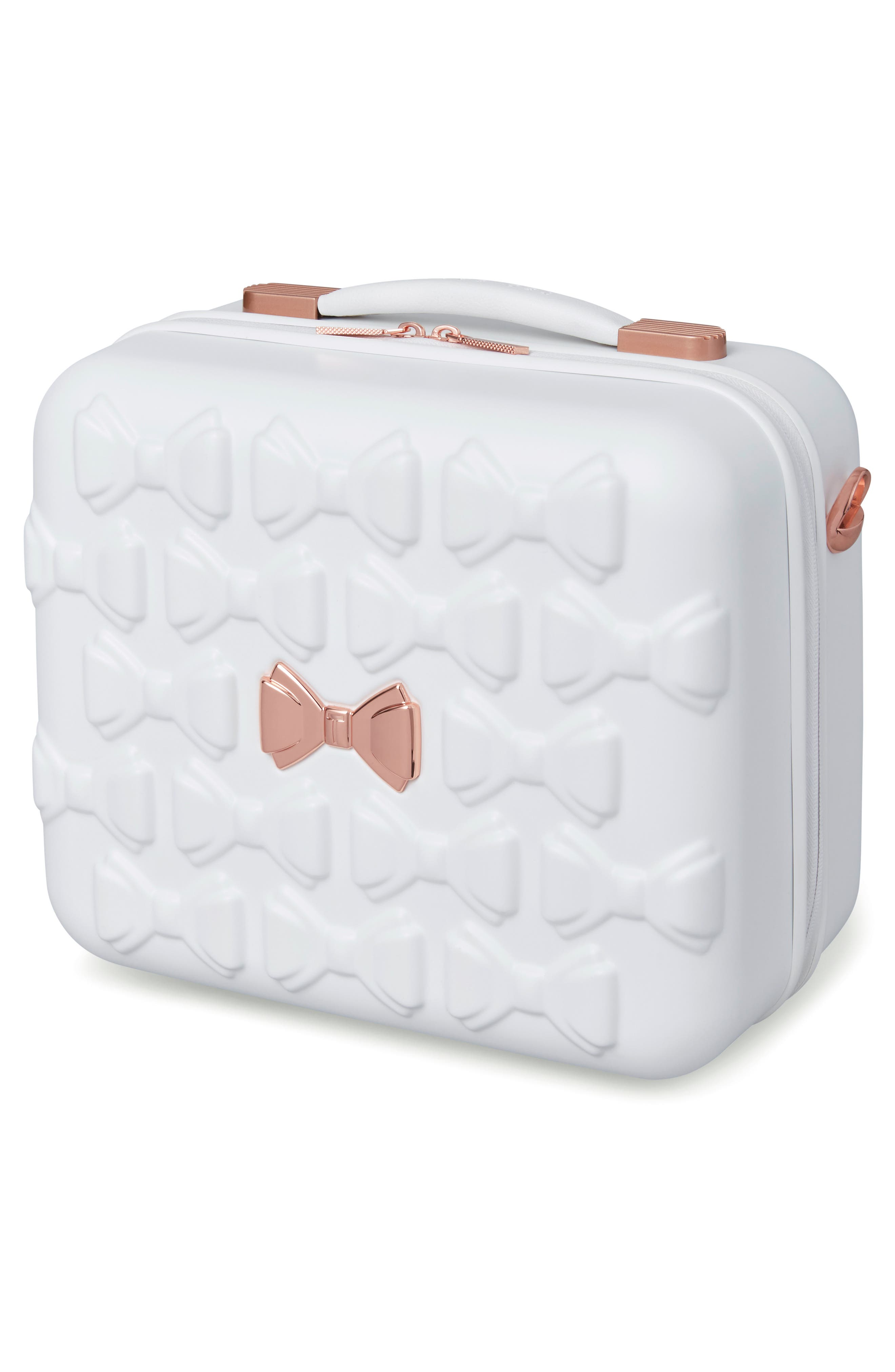 Beau Hardshell Vanity Case,                             Alternate thumbnail 3, color,                             WHITE