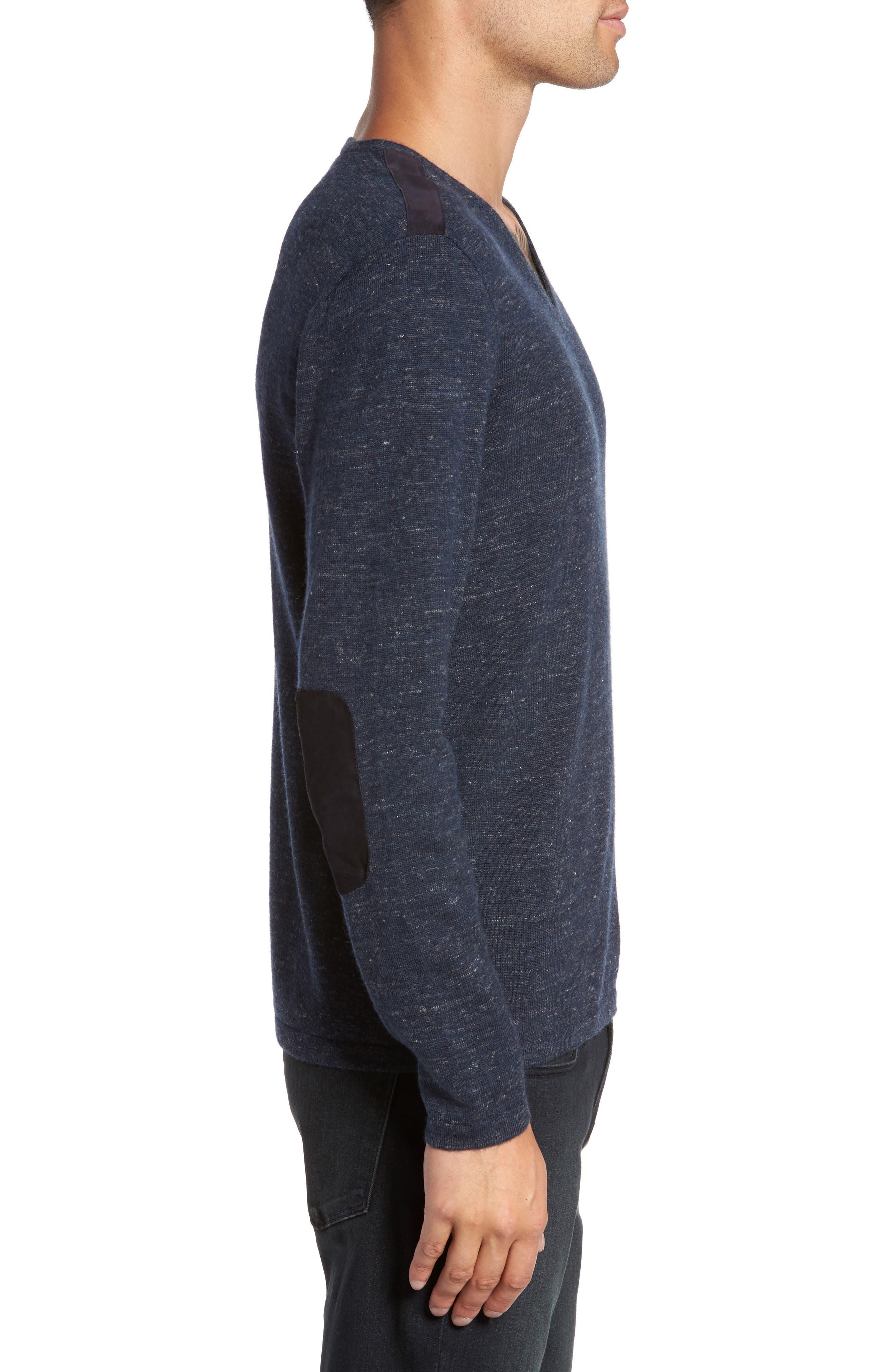 Long Sleeve V-Neck Sweater,                             Alternate thumbnail 8, color,