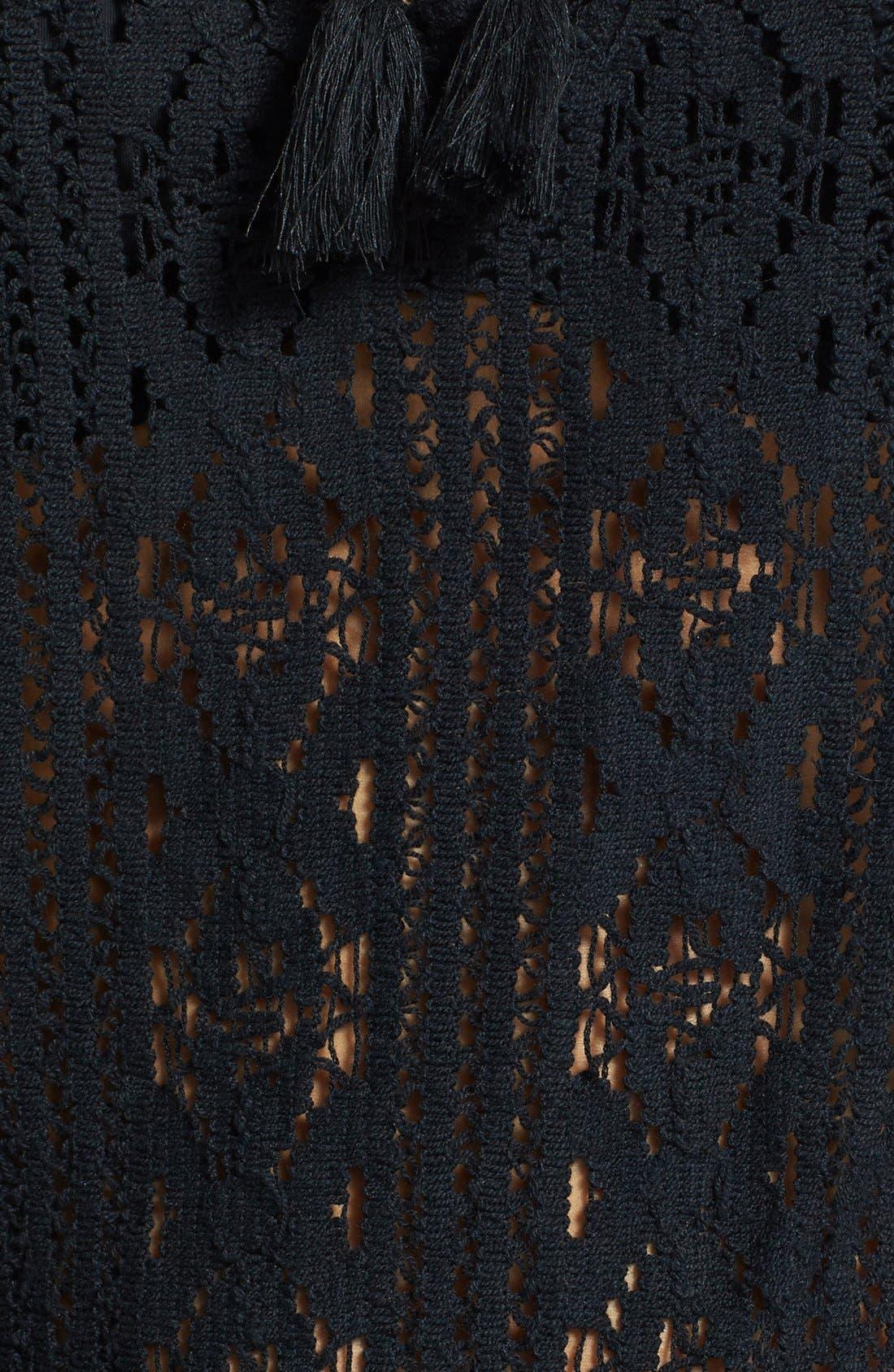 'Jaden' Crochet Cover-Up Romper,                             Alternate thumbnail 3, color,                             001