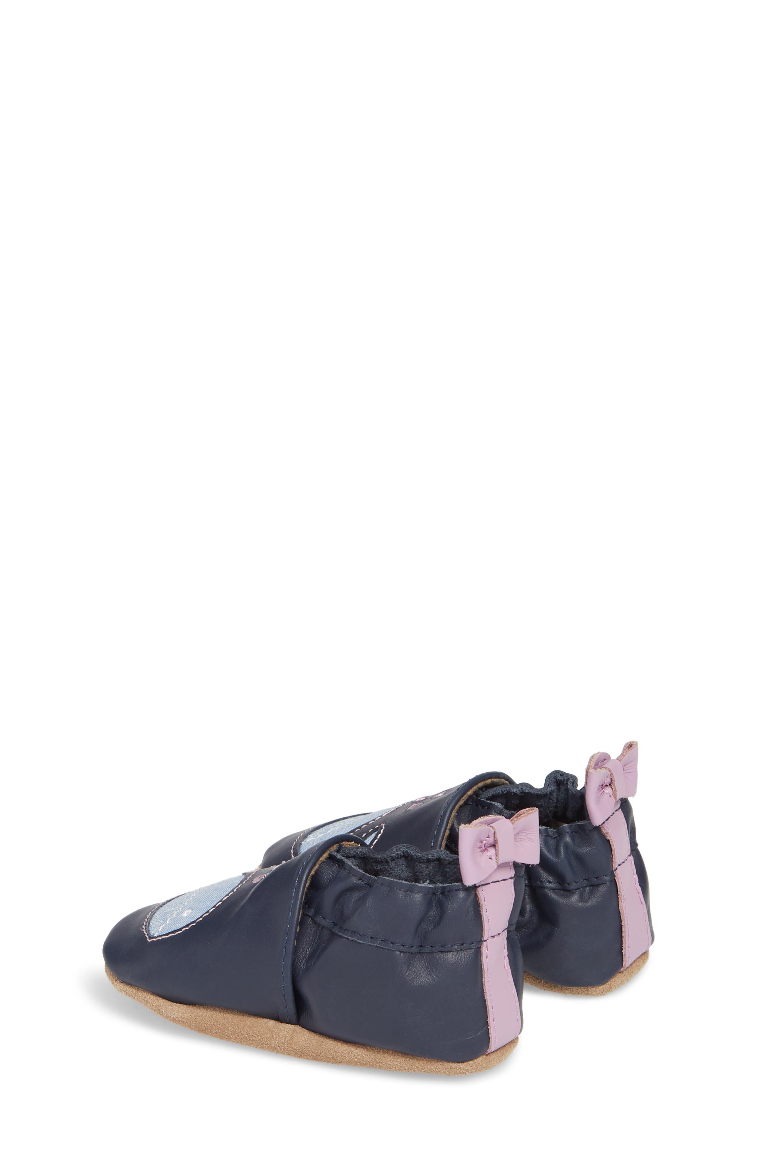 Poppy Whale Crib Shoe,                             Alternate thumbnail 2, color,                             NAVY