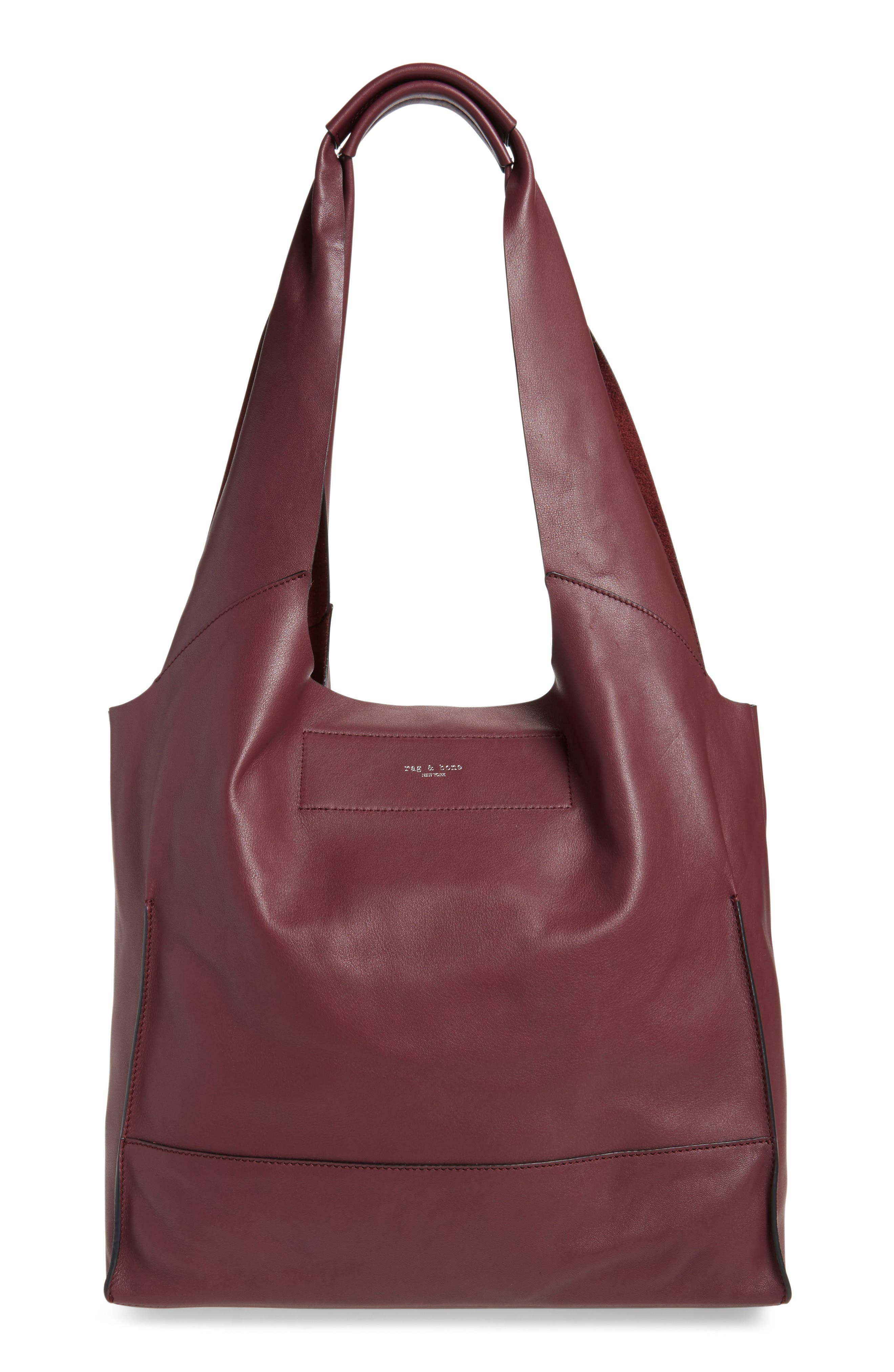 Walker Leather Tote,                             Alternate thumbnail 12, color,
