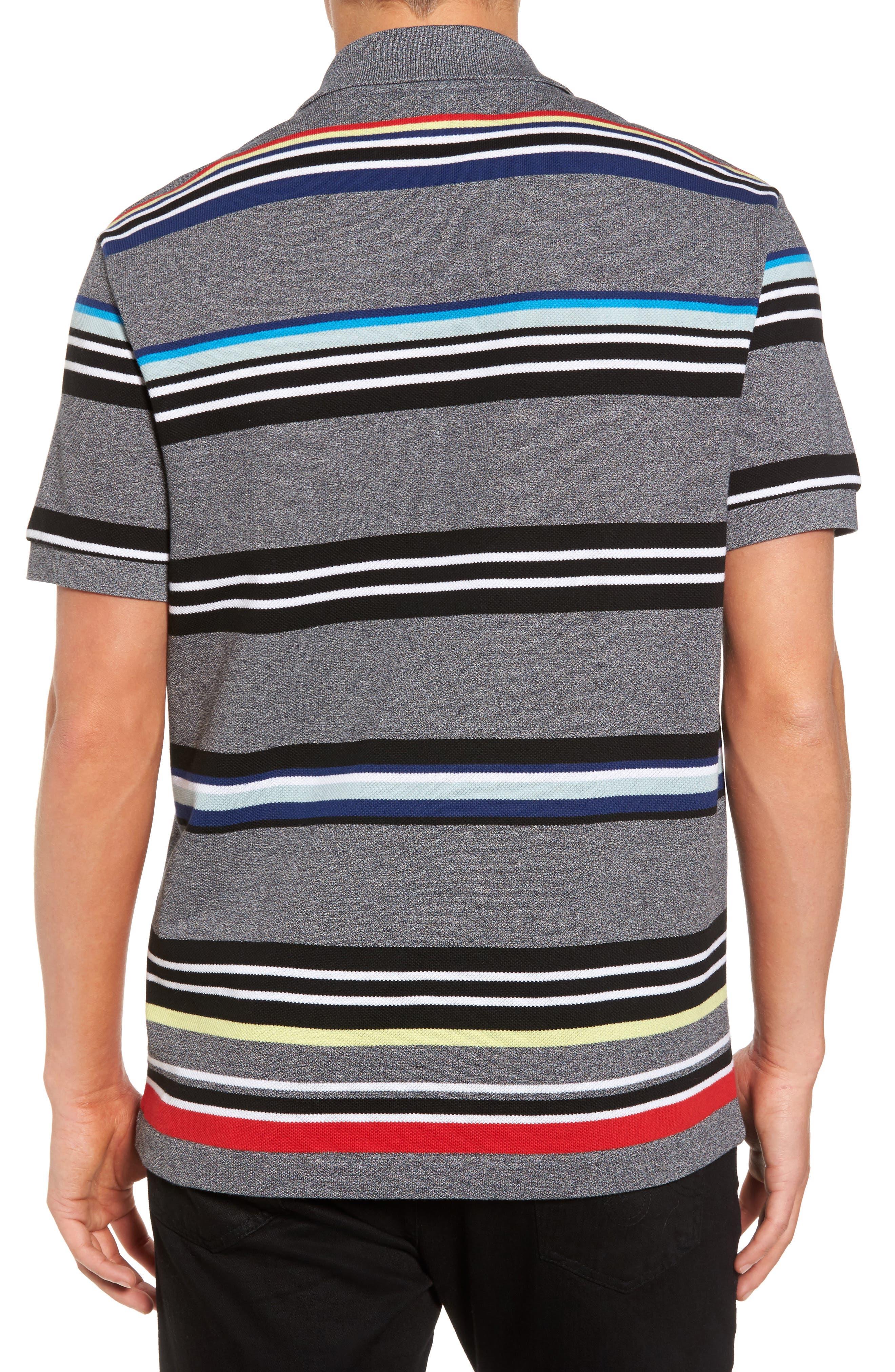 Mouline Stripe Piqué Polo,                             Alternate thumbnail 2, color,                             060