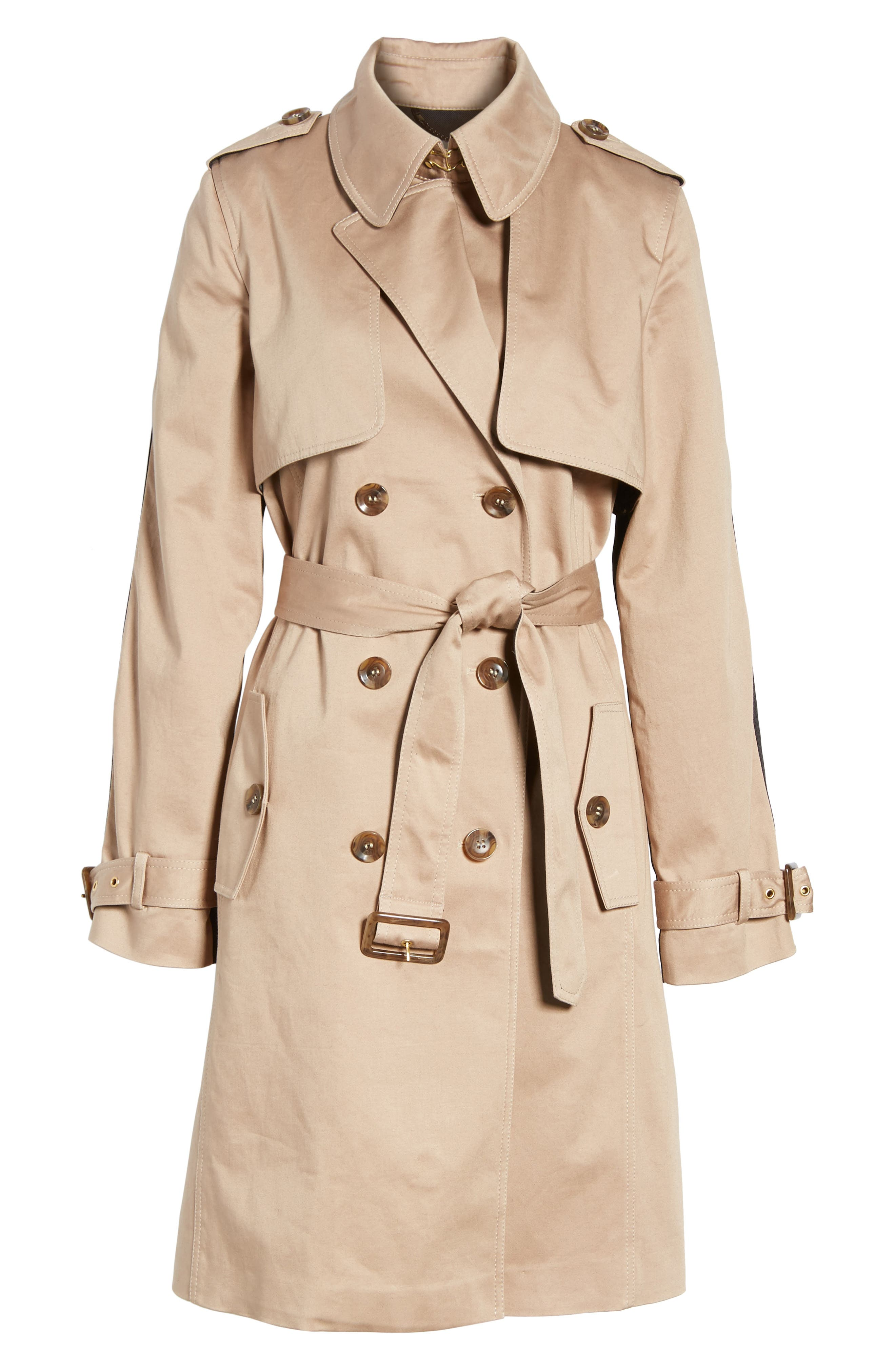 Allison Two-Tone Trench Coat,                             Alternate thumbnail 5, color,                             251