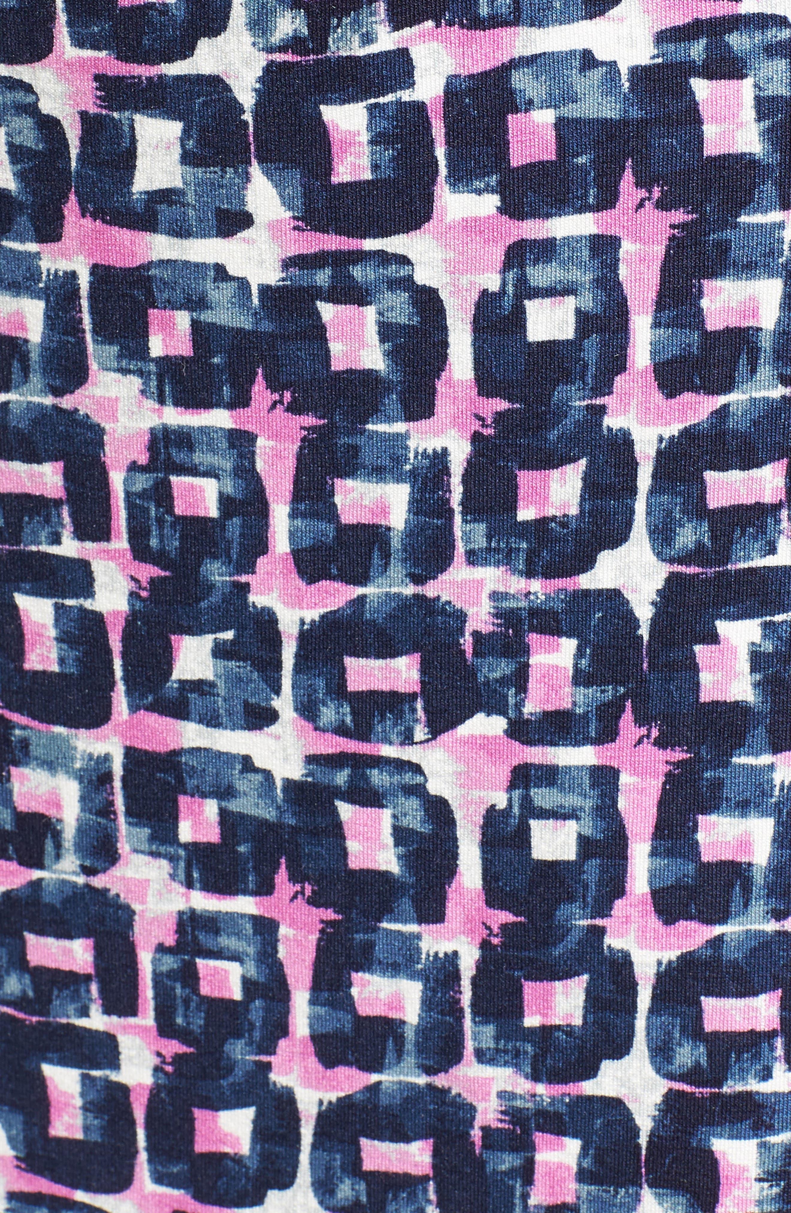 Groundwork Twist Print Sheath Dress,                             Alternate thumbnail 5, color,                             490