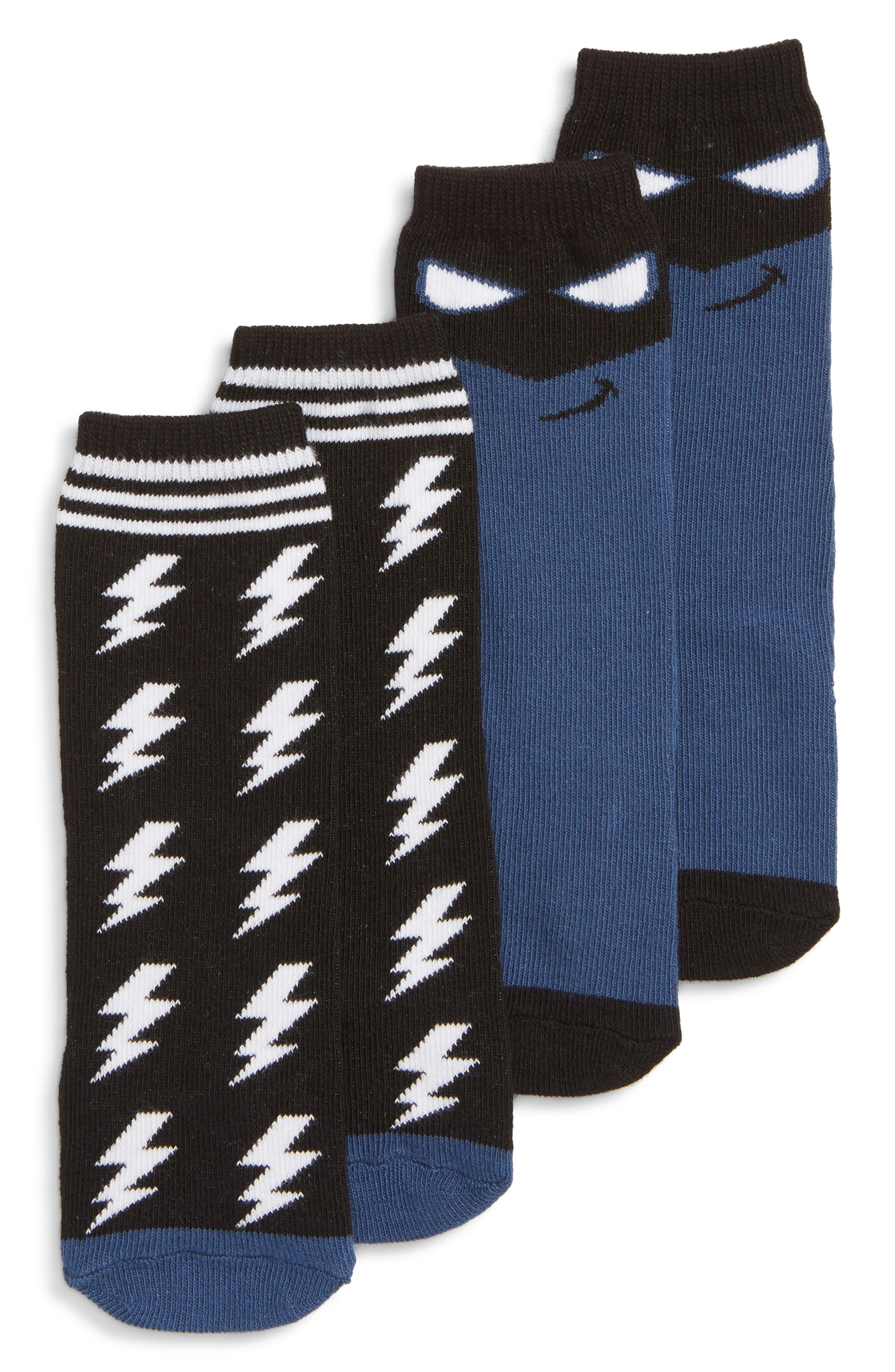 Hero 2-Pack Boot Socks,                             Alternate thumbnail 2, color,                             BLUE