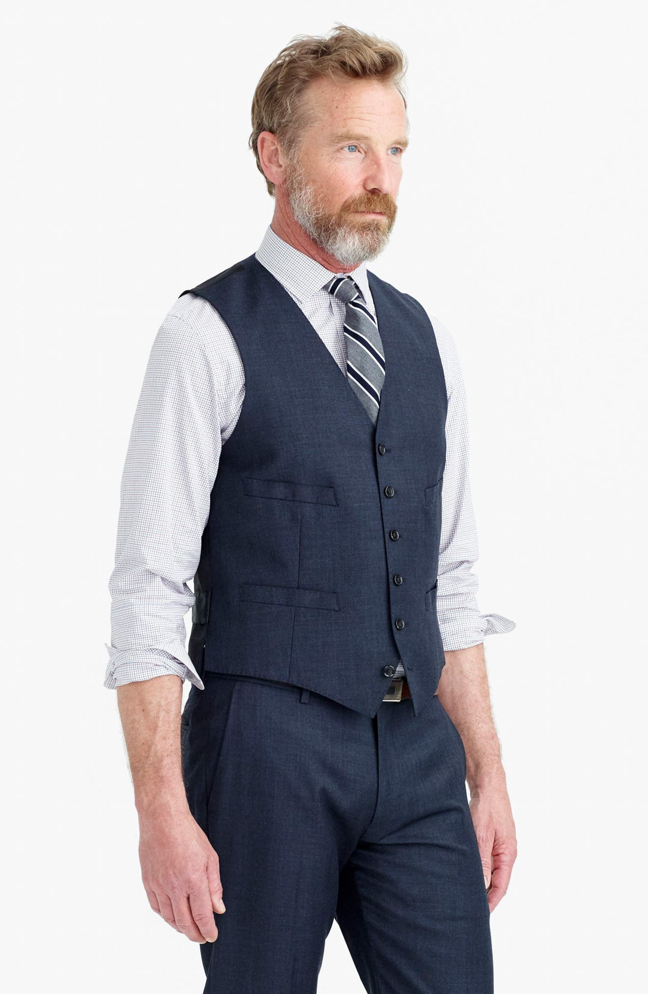 Ludlow Trim Fit Solid Wool Vest,                             Alternate thumbnail 16, color,                             410