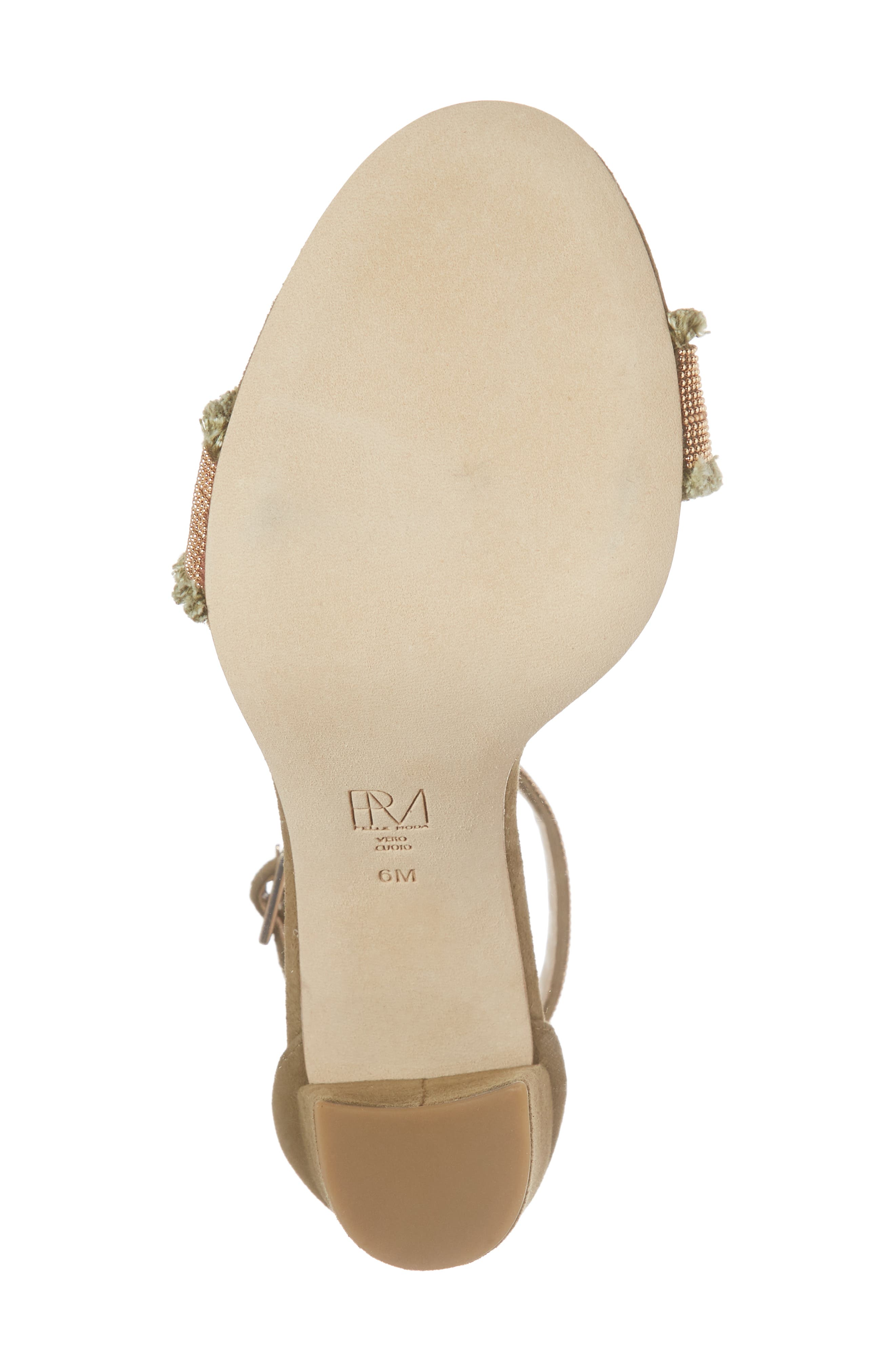 Bonnie6 Embellished Sandal,                             Alternate thumbnail 6, color,                             KHAKI SUEDE