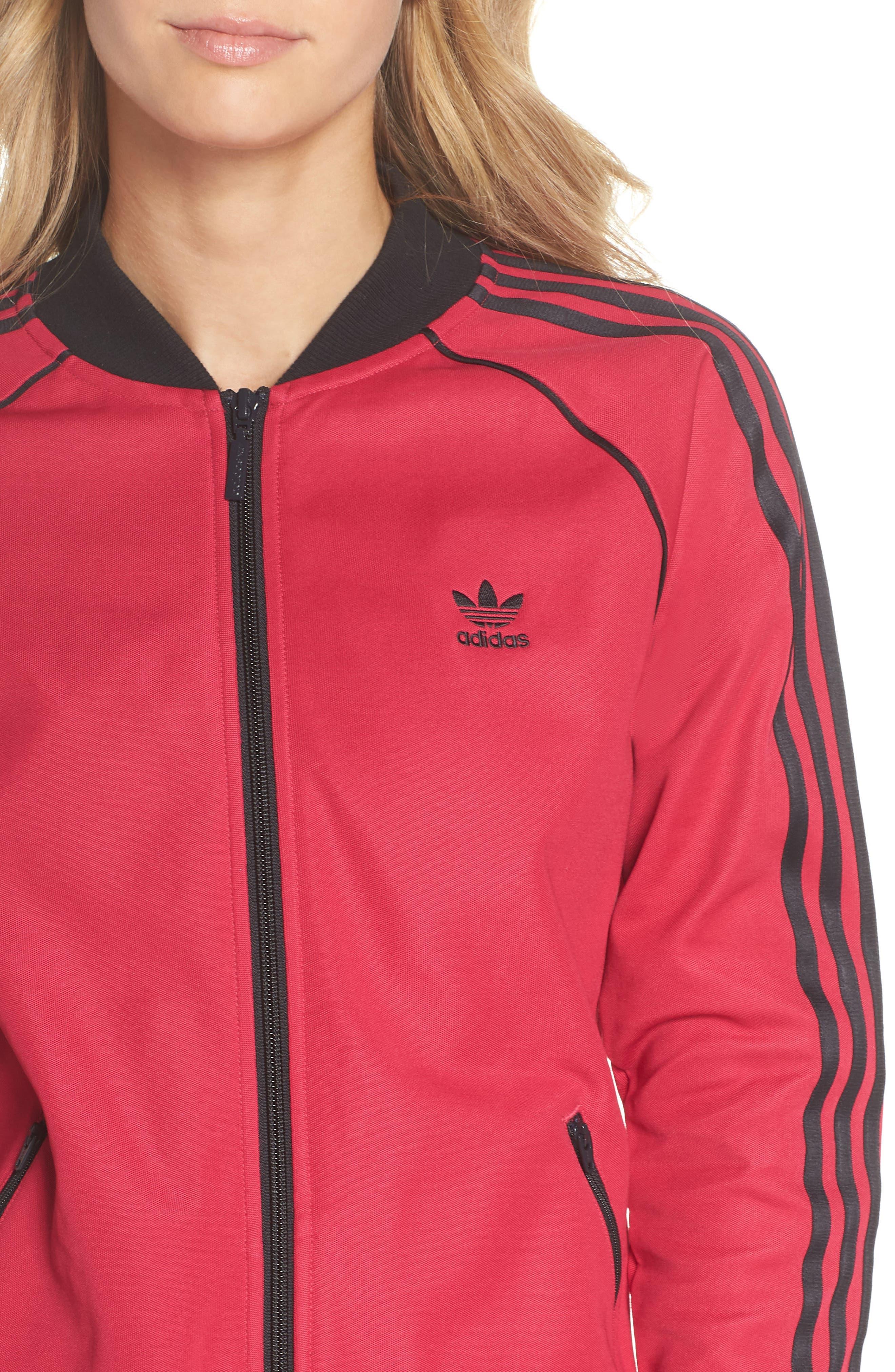 adidas Track Jacket,                             Alternate thumbnail 4, color,                             650