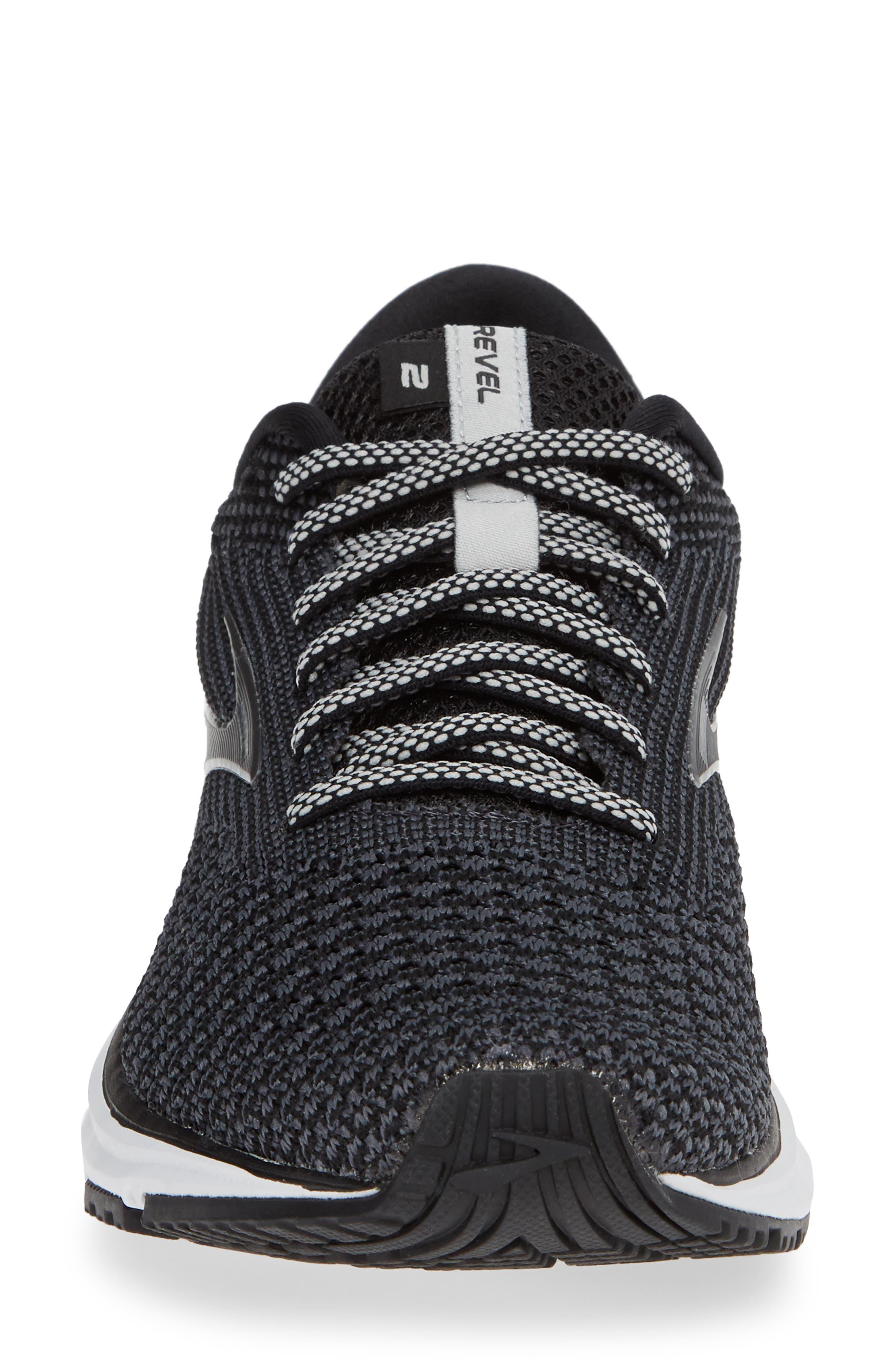 Revel 2 Running Shoe,                             Alternate thumbnail 4, color,                             BLACK/ GREY/ GREY
