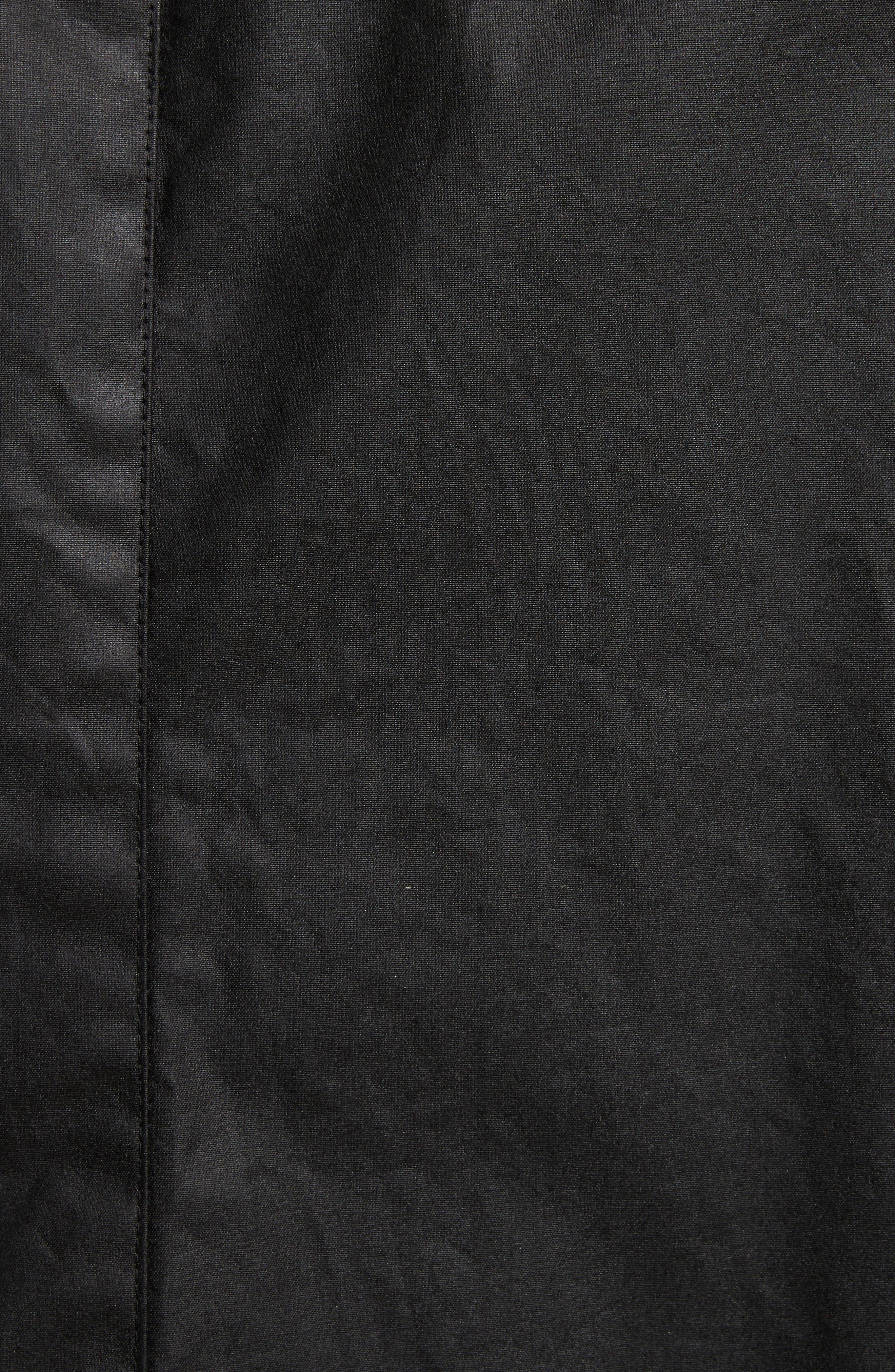 Explorer Waxed Cotton Jacket,                             Alternate thumbnail 6, color,                             BLACK