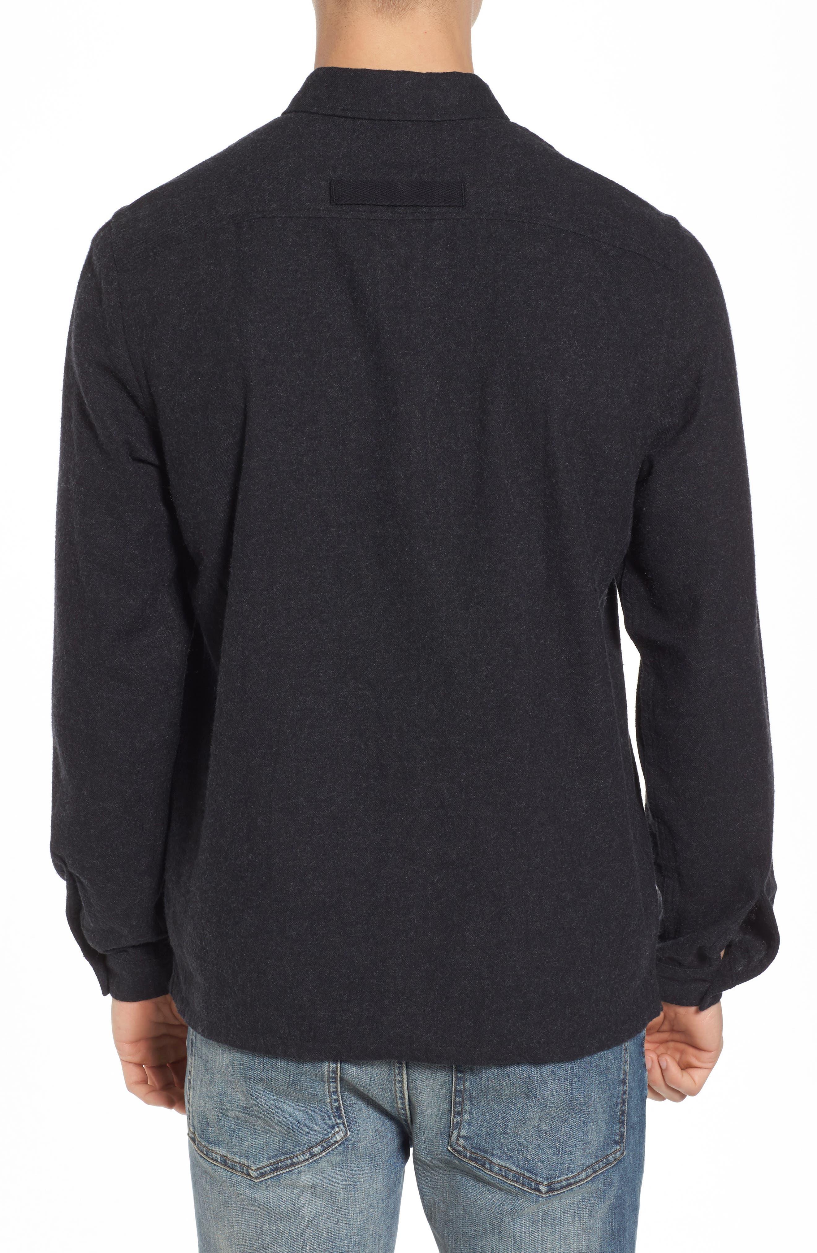 Nicks Flannel Zip Overshirt,                             Alternate thumbnail 2, color,                             001
