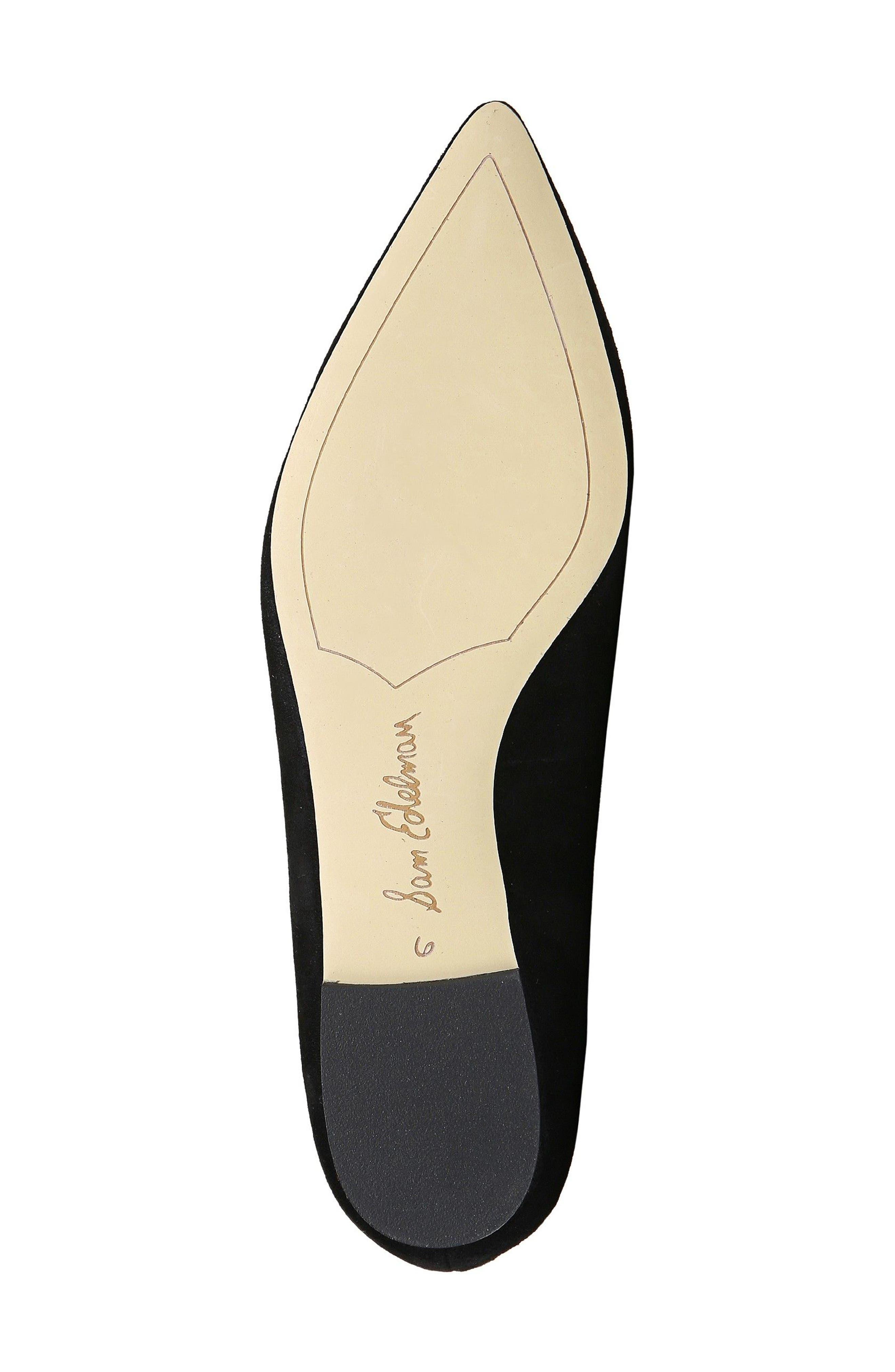 'Rae' Pointy Toe Ballet Flat,                             Alternate thumbnail 6, color,                             001