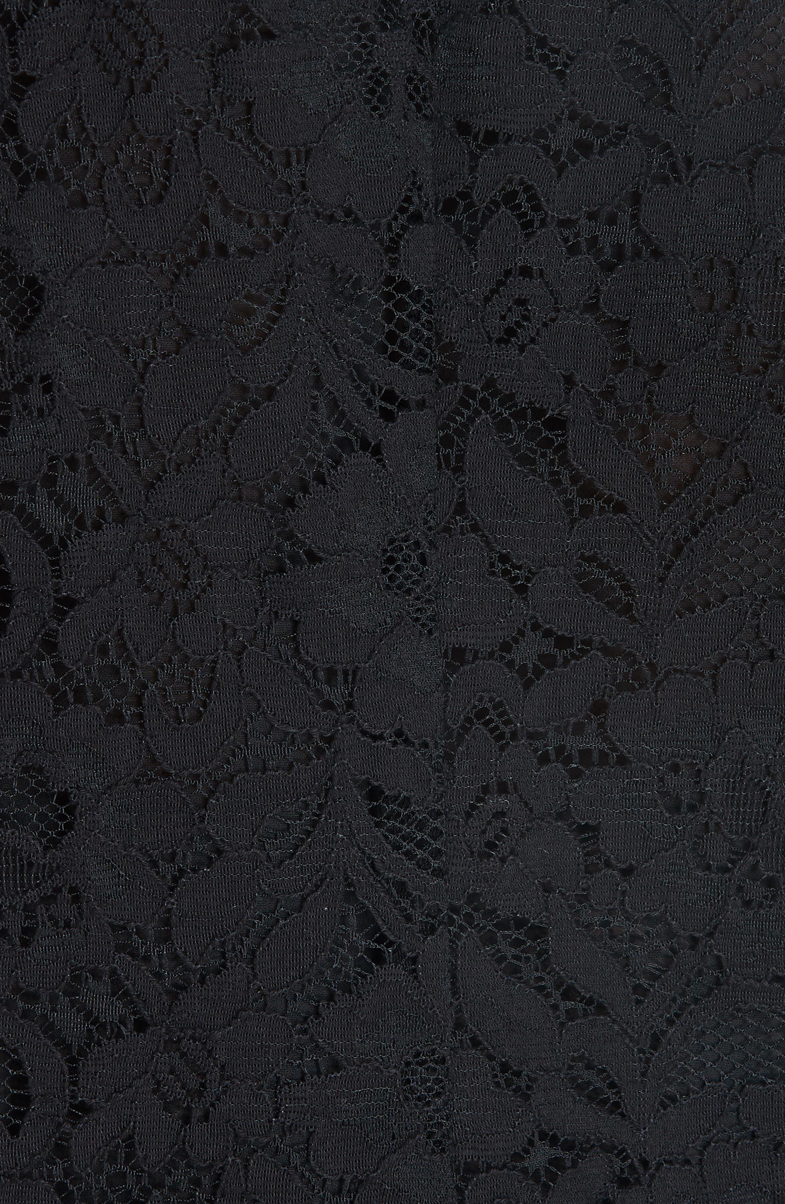 Cotton Blend Lace Ruffle Blouse,                             Alternate thumbnail 5, color,                             001