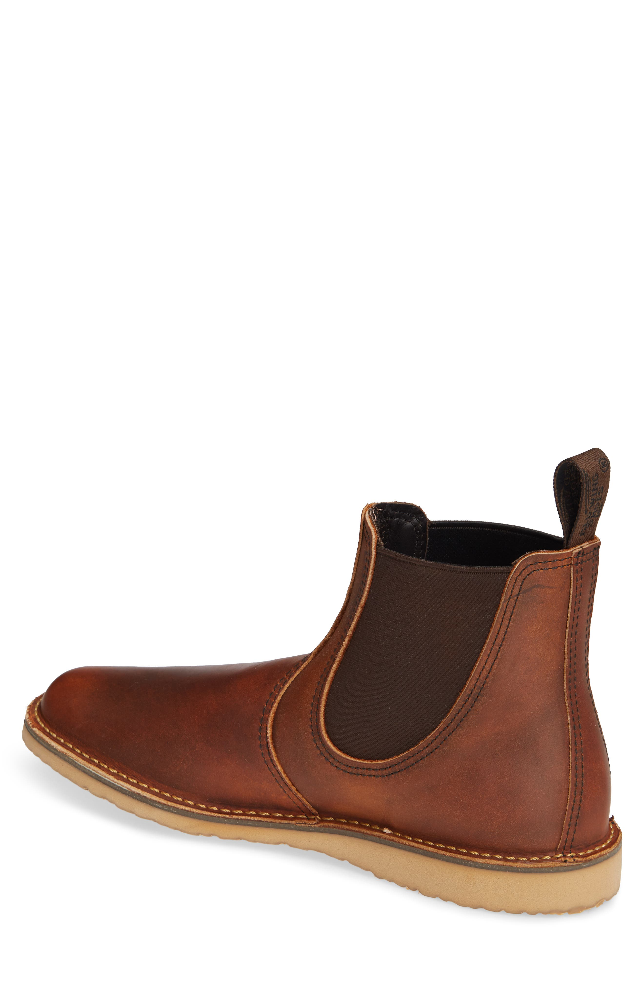 Chelsea Boot,                             Alternate thumbnail 2, color,                             COPPER LEATHER