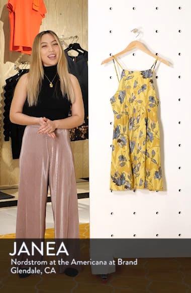 Henna Floral Print Woven Tank Dress, sales video thumbnail