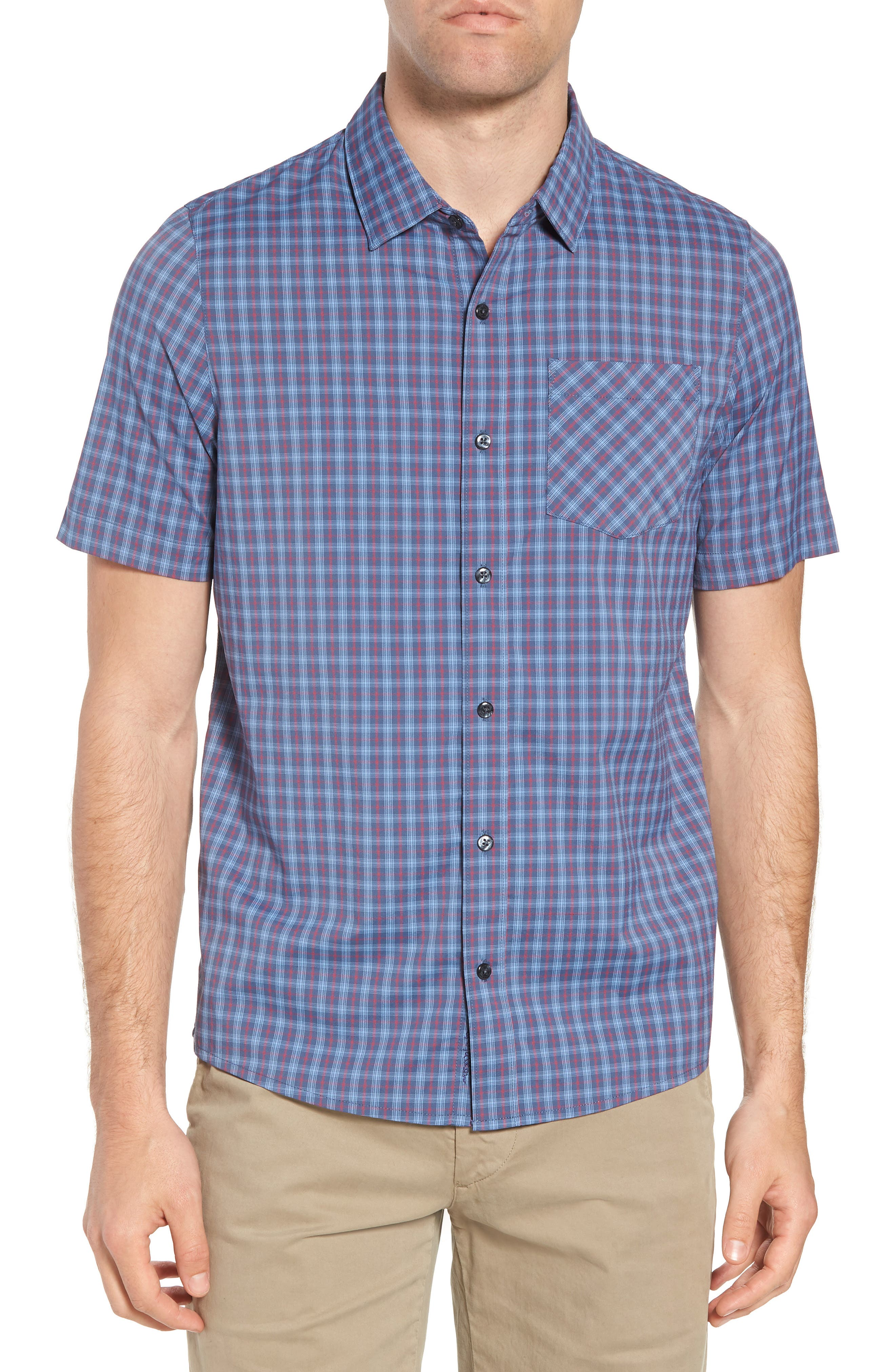 Smoke Bomb Regular Fit Short Sleeve Sport Shirt,                         Main,                         color, 400