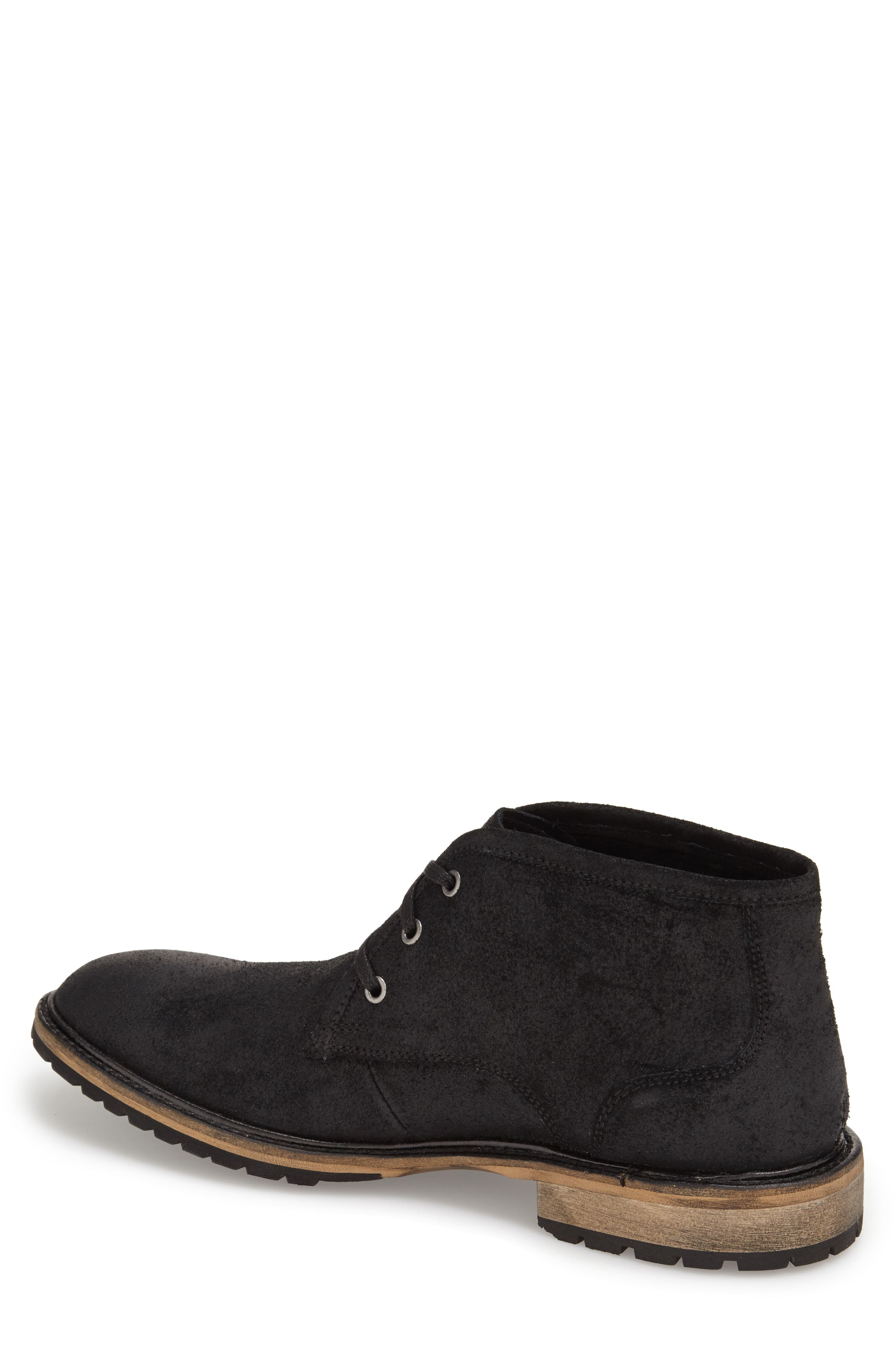 Woodside Chukka Boot,                         Main,                         color, BLACK/ DEEP NATURAL SUEDE
