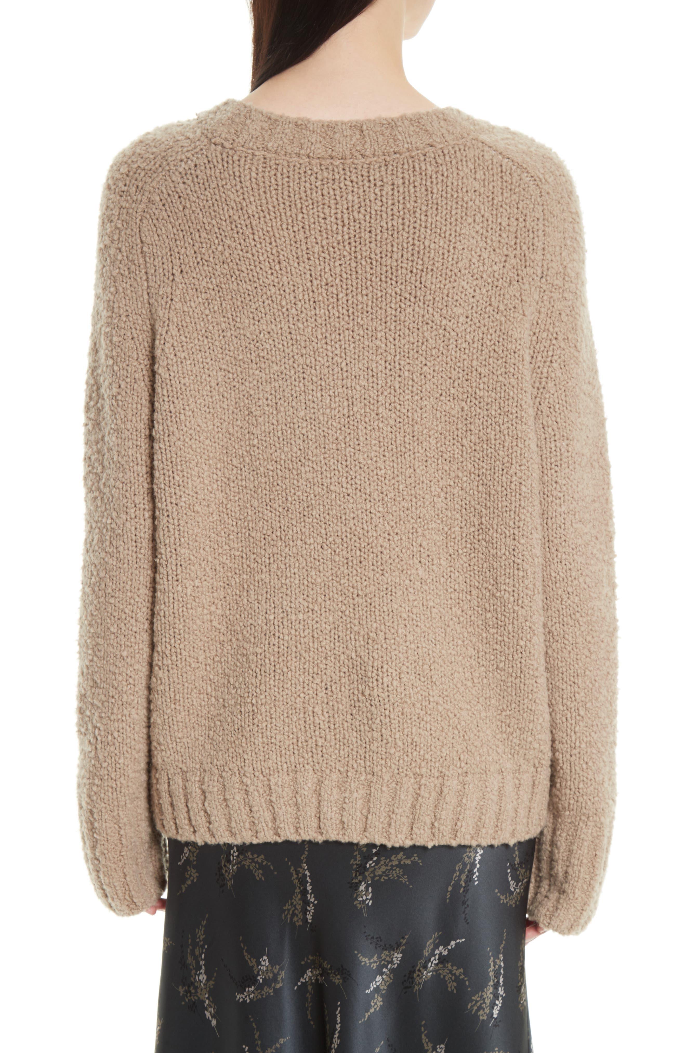 Saddle Sleeve Wool Sweater,                             Alternate thumbnail 2, color,