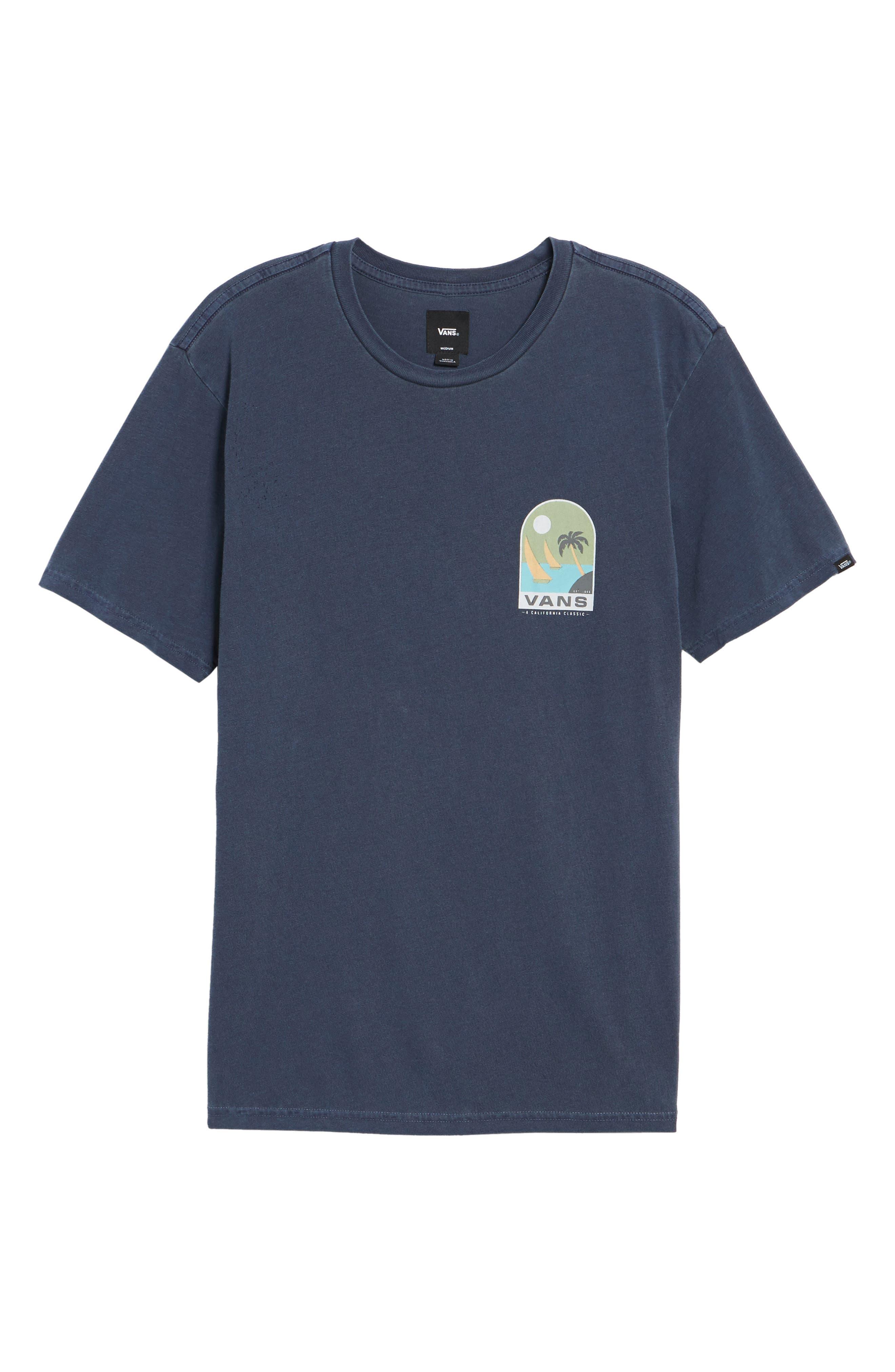 Open Sail Graphic T-Shirt,                             Alternate thumbnail 6, color,                             401