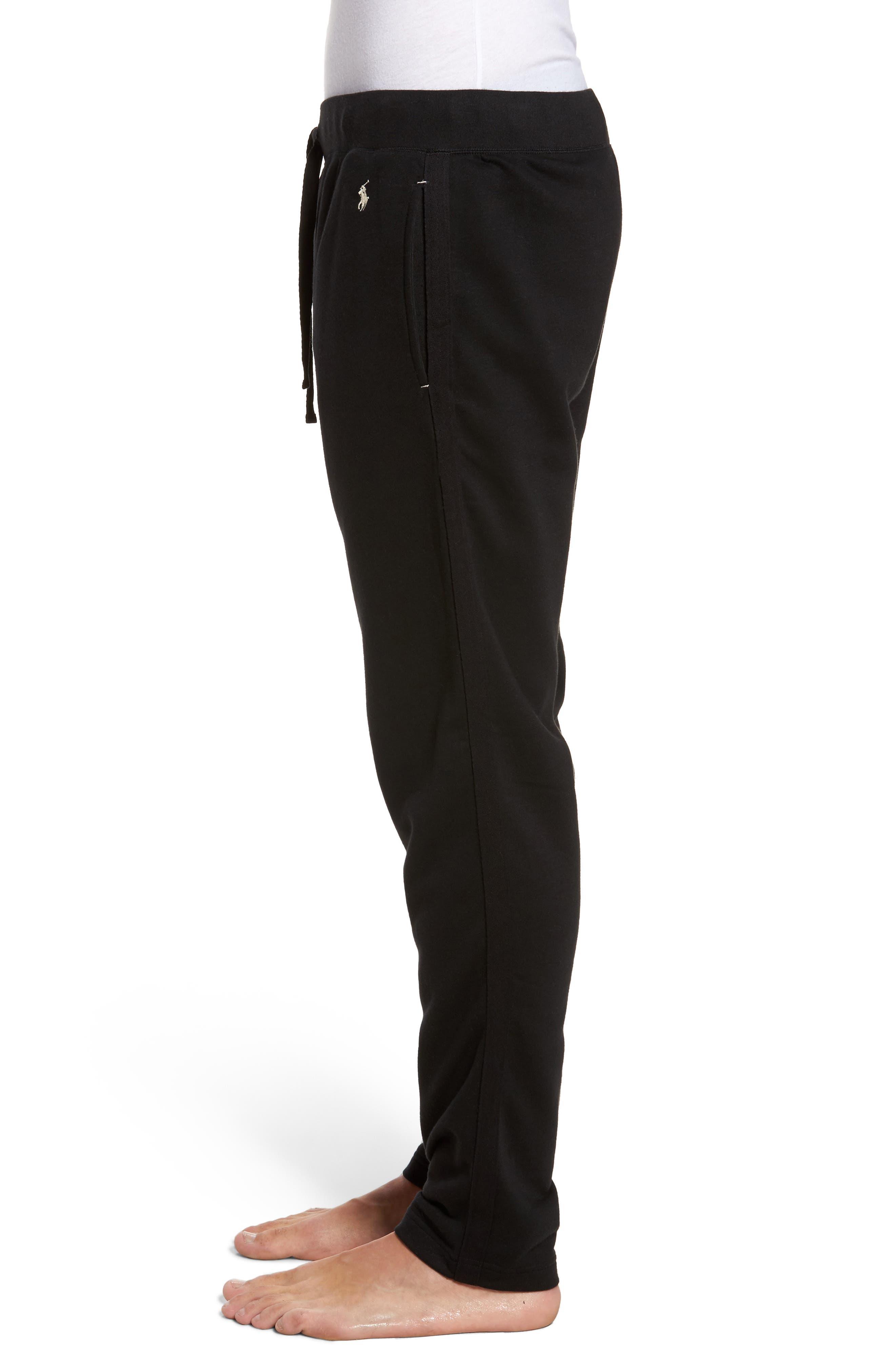 Slim Fit Brushed Fleece Pajama Pants,                             Alternate thumbnail 3, color,                             013