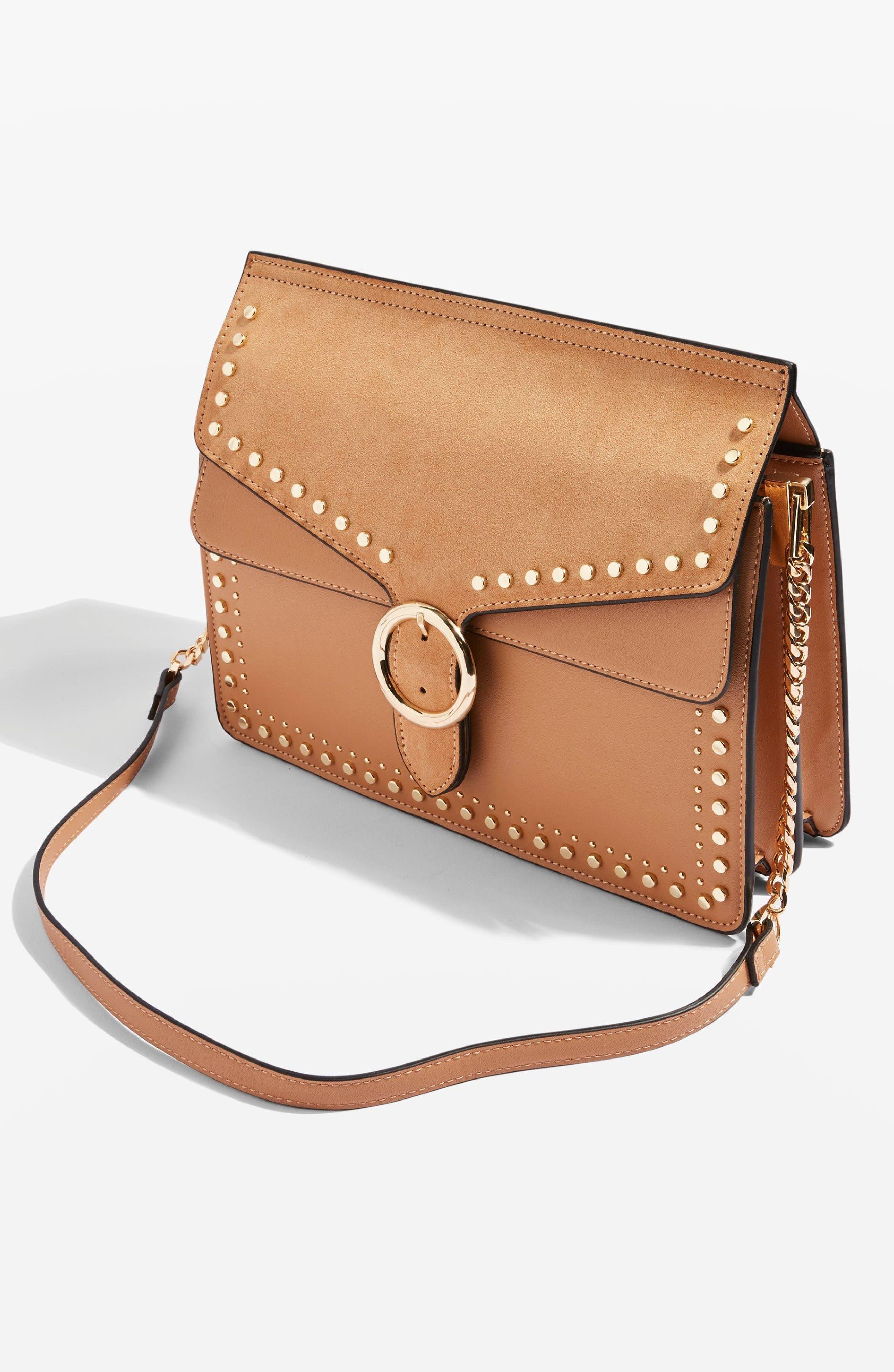 Peony Studded Shoulder Bag,                             Alternate thumbnail 14, color,