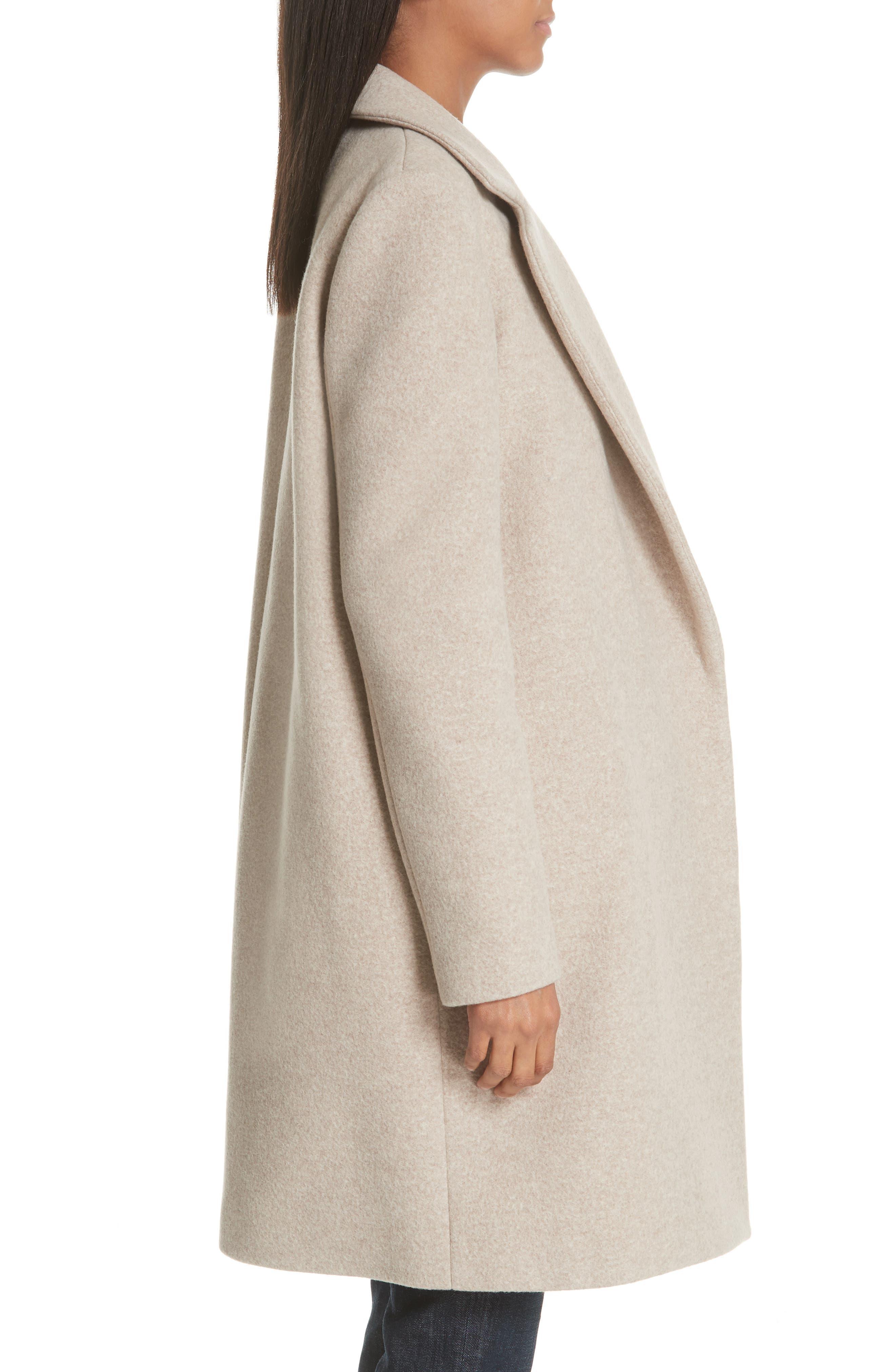 Clairene Hawthorne Wool Cashmere Coat,                             Alternate thumbnail 3, color,                             260