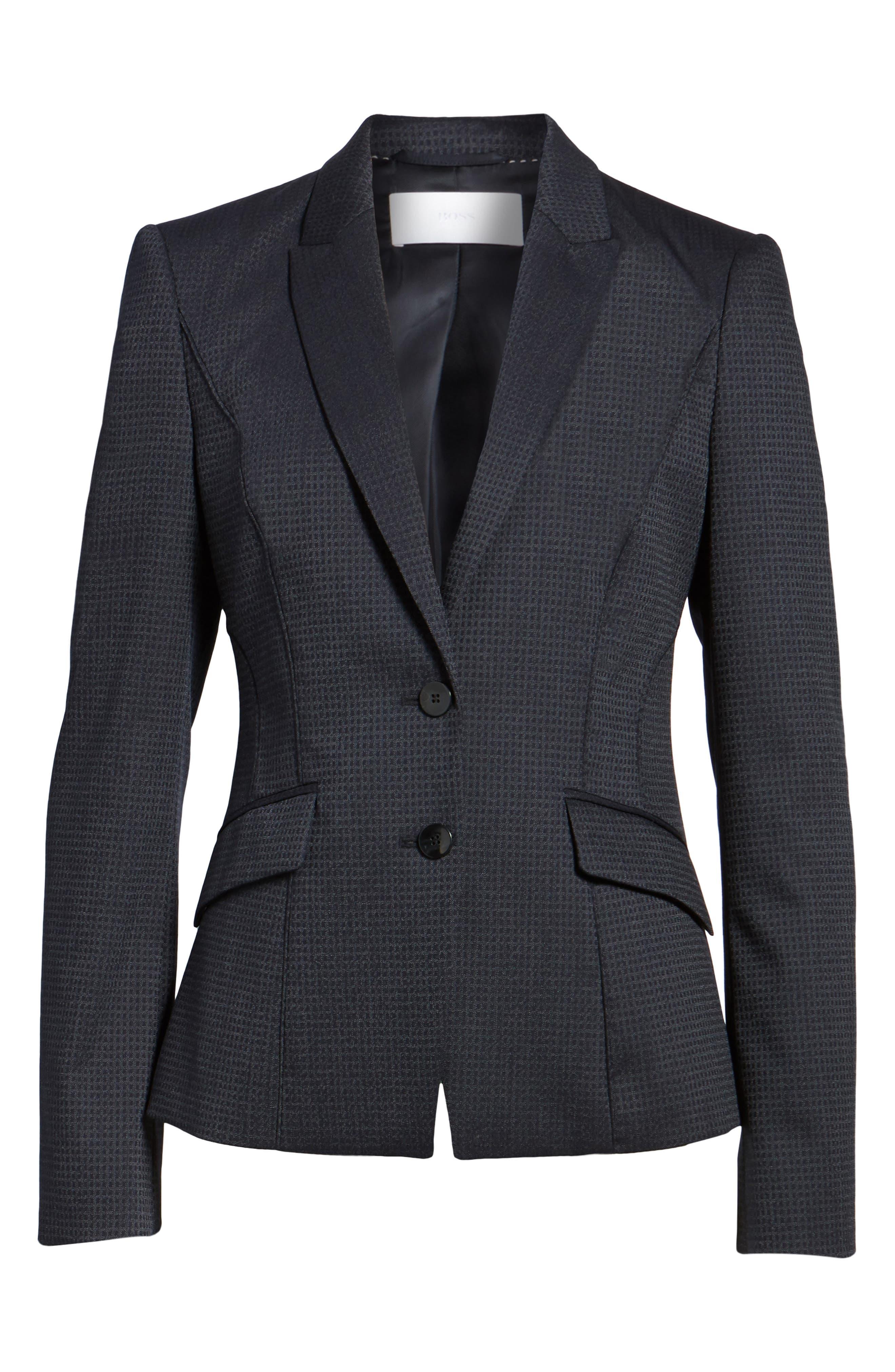 Jukani Check Wool Blend Suit Jacket,                             Alternate thumbnail 10, color,