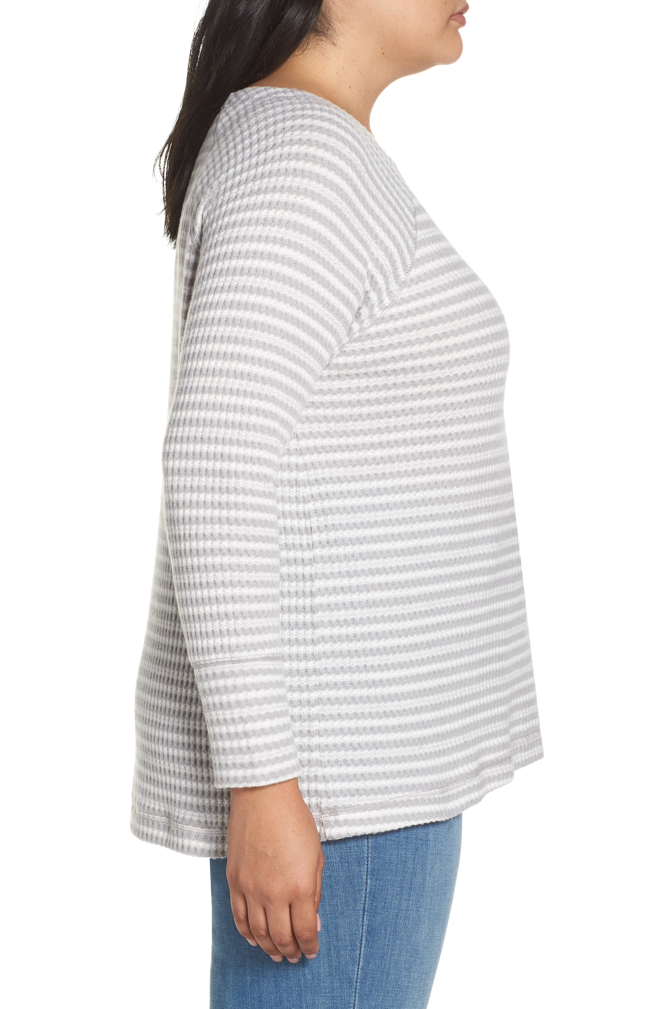 Cozy Thermal Dolman Top,                             Alternate thumbnail 3, color,                             030
