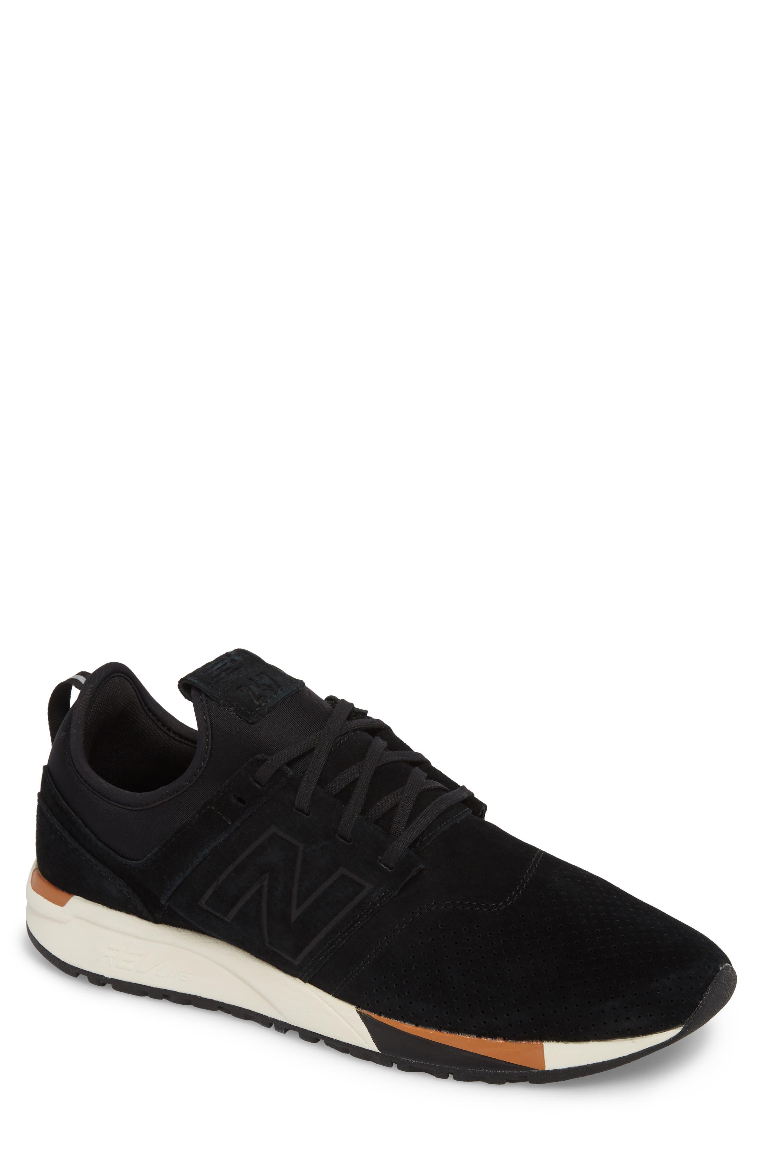 247 Luxe Sneaker,                             Main thumbnail 1, color,                             BLACK
