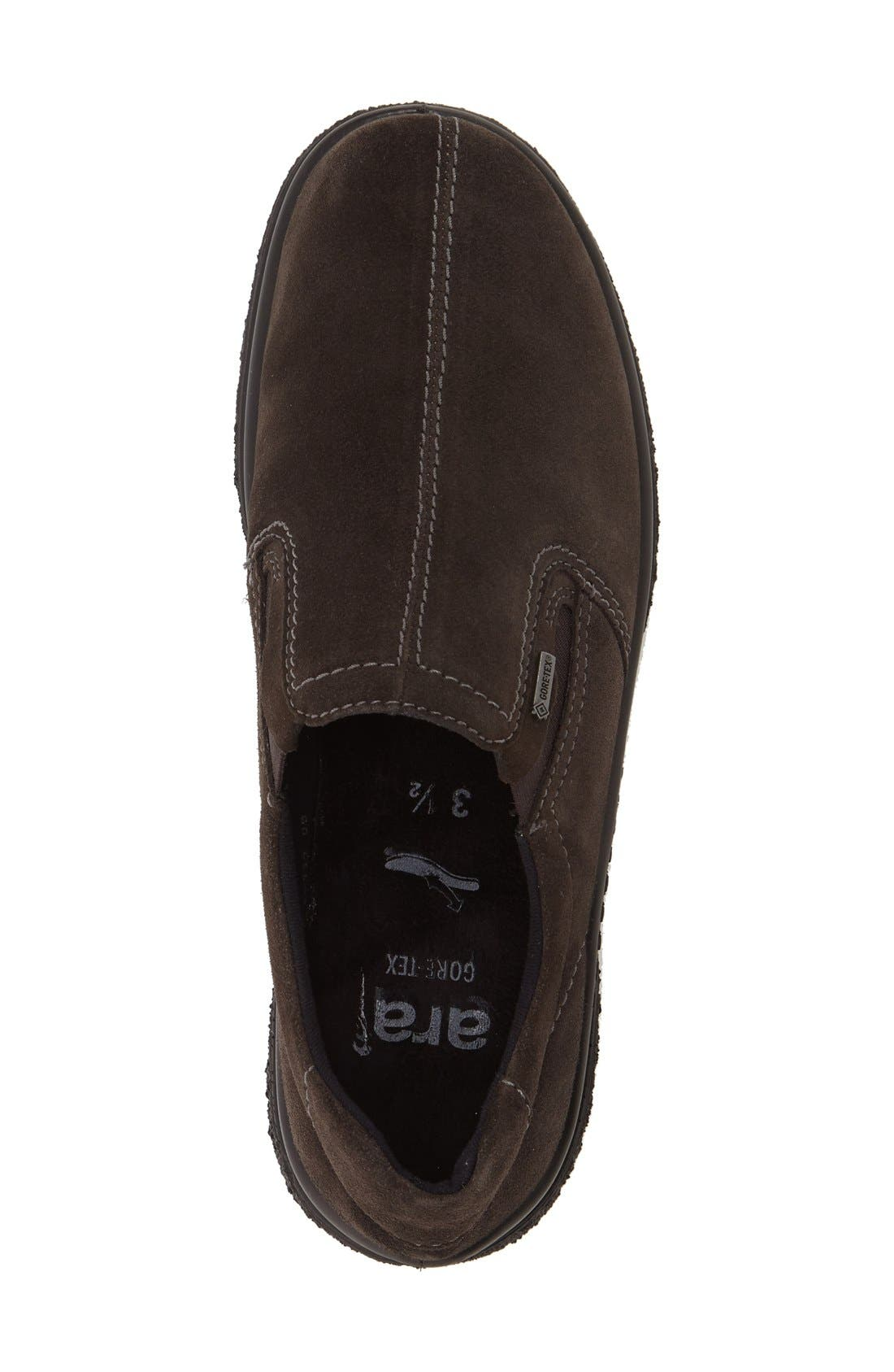 Parson Waterproof Gore-Tex<sup>®</sup> Slip-On Sneaker,                             Alternate thumbnail 3, color,                             LAVA SUEDE