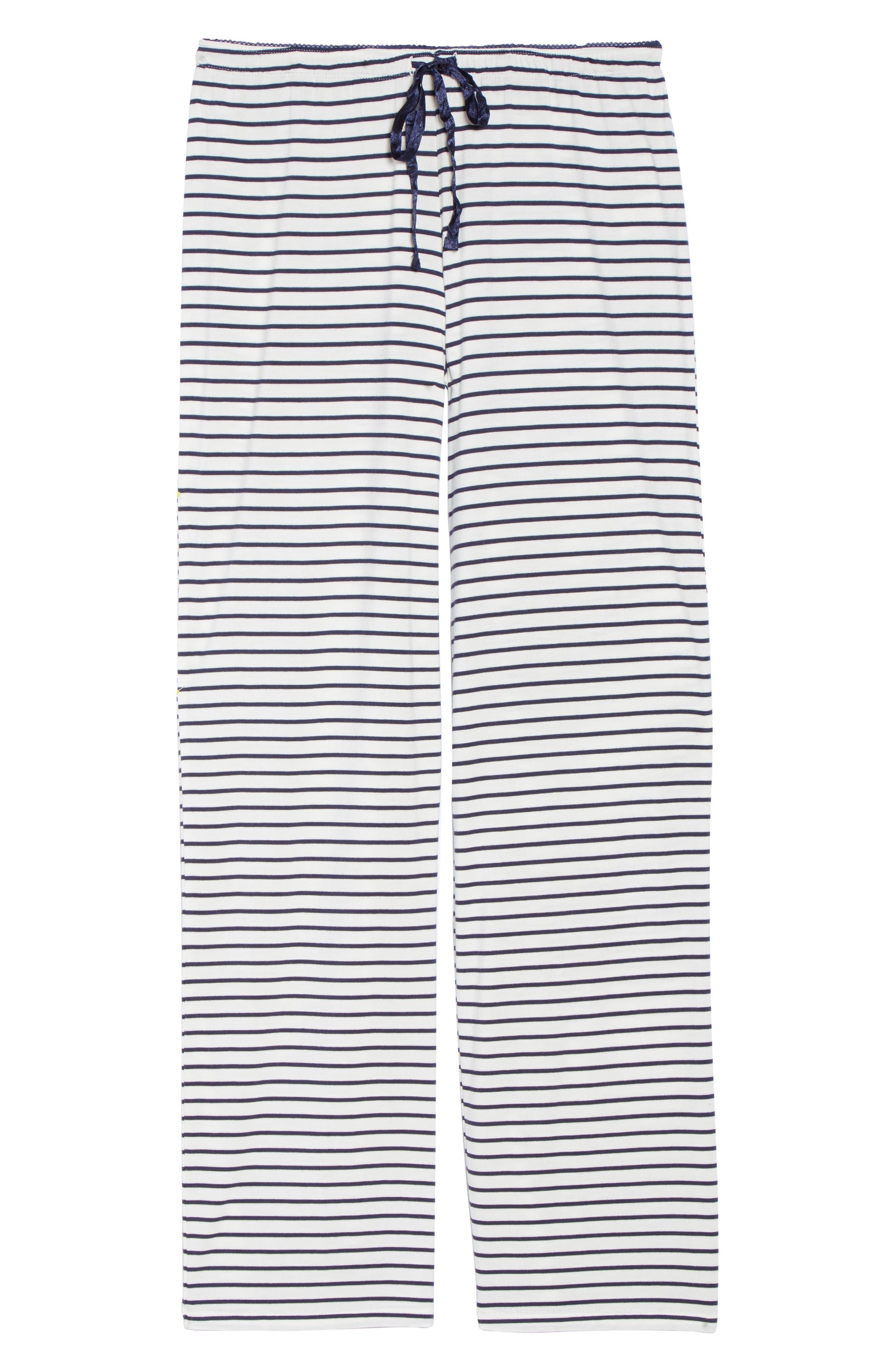 Stripe Pajama Pants,                             Alternate thumbnail 6, color,                             900