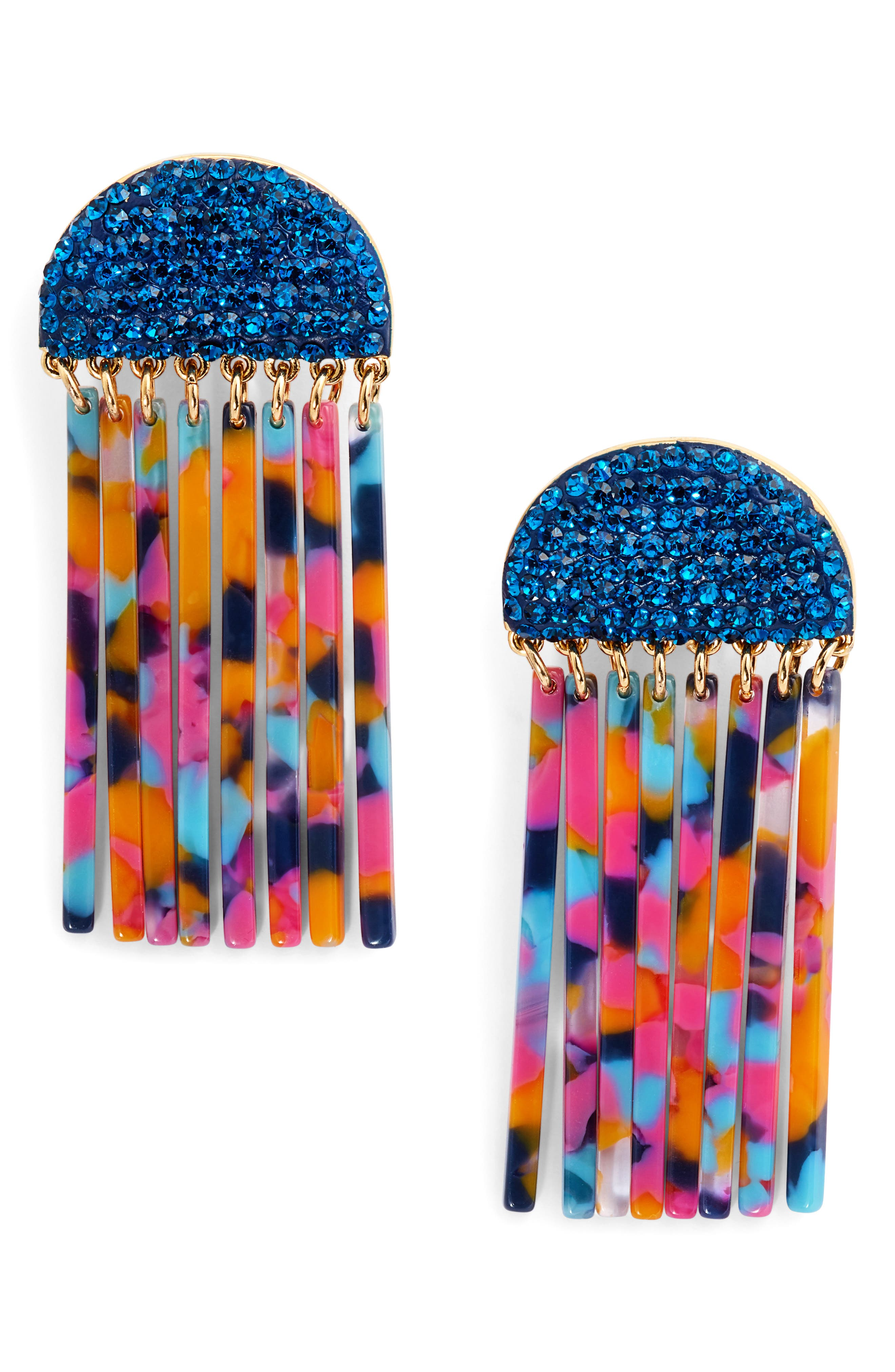 Crystal Comb Earrings,                         Main,                         color,