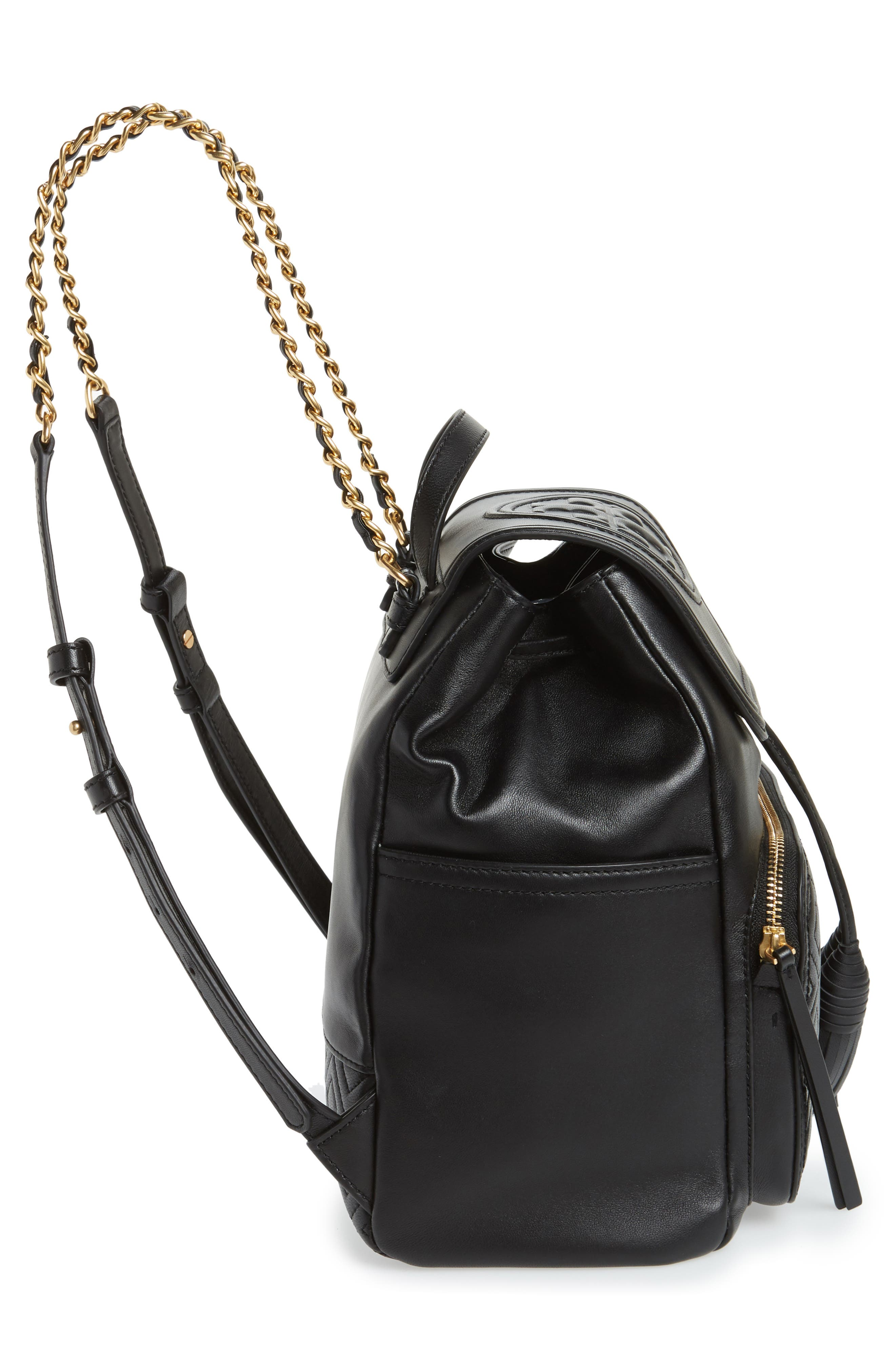 Fleming Lambskin Leather Backpack,                             Alternate thumbnail 13, color,