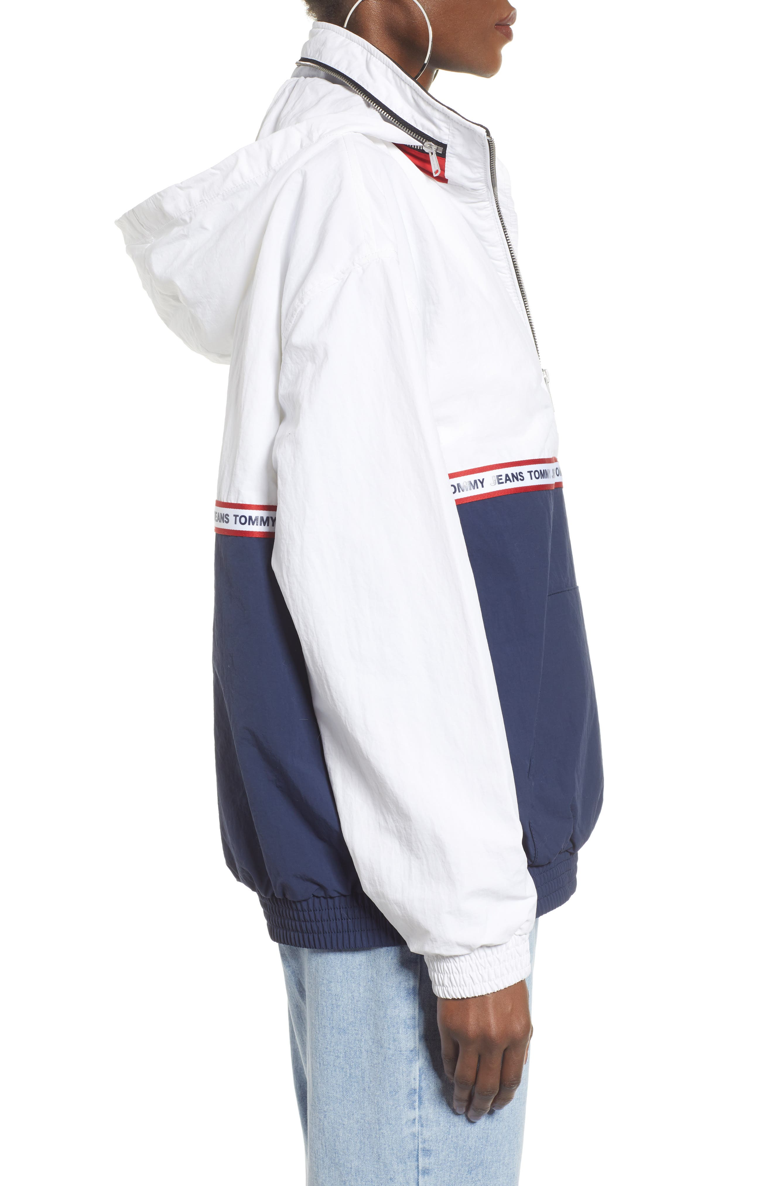 TOMMY JEANS,                             TJW Logo Tape Pullover,                             Alternate thumbnail 3, color,                             400