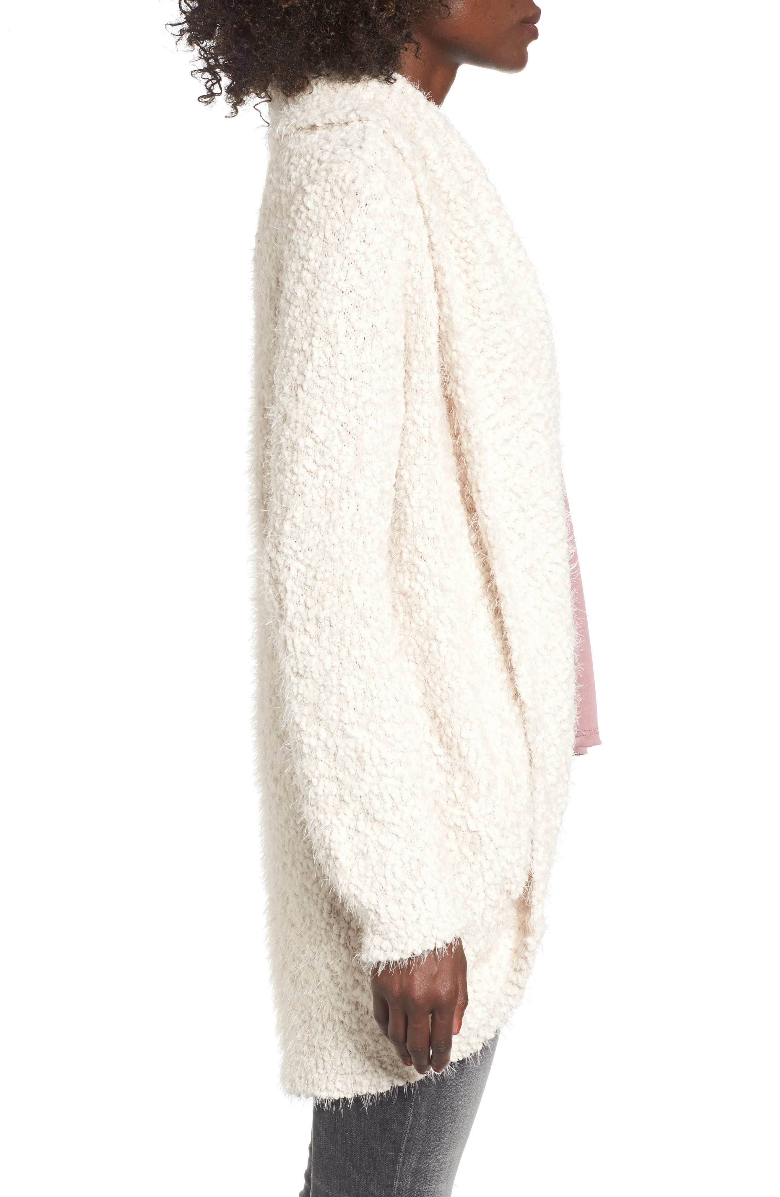 Fluffy Cocoon Cardigan,                             Alternate thumbnail 3, color,