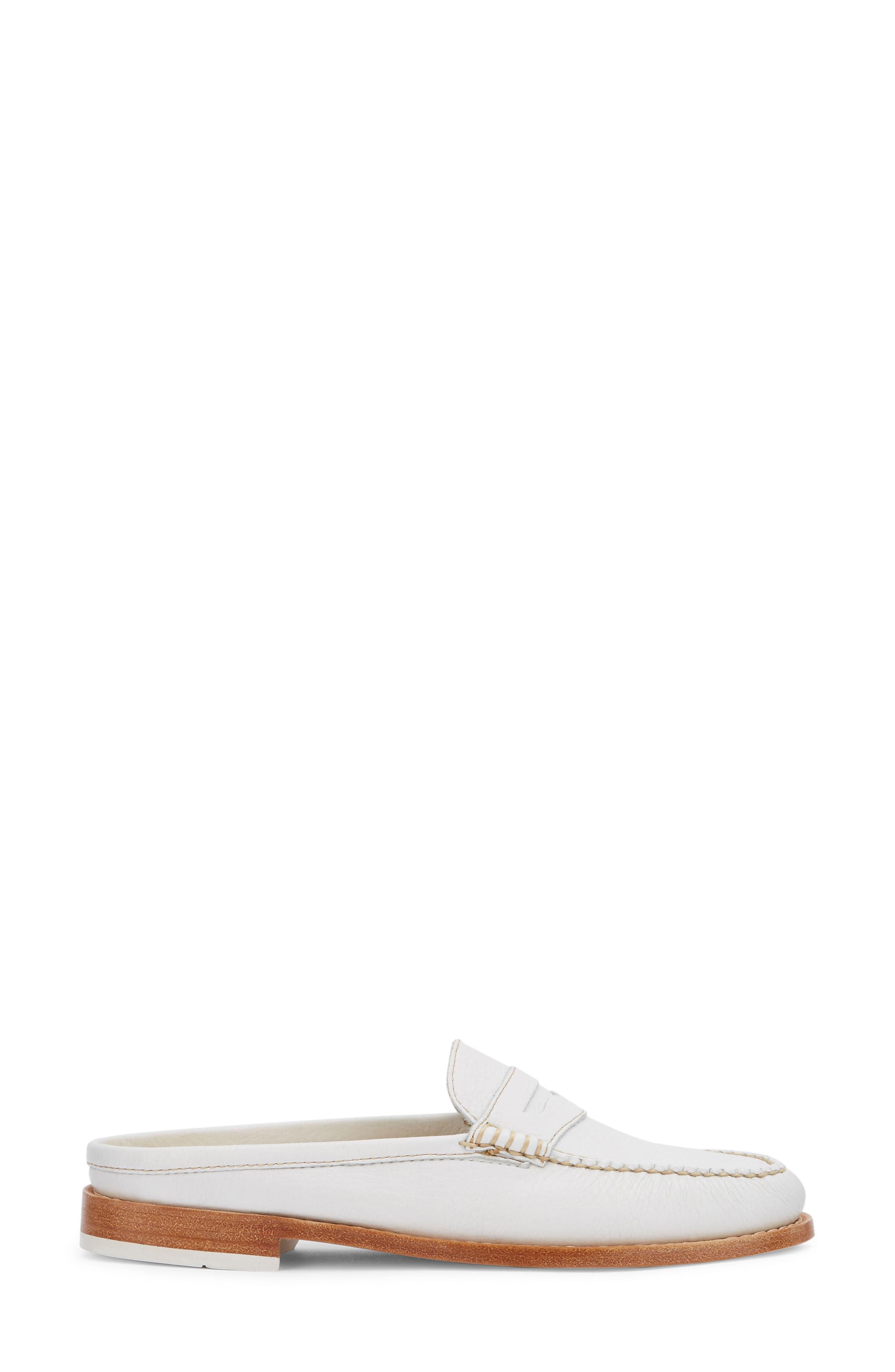 Wynn Loafer Mule,                             Alternate thumbnail 3, color,                             WHITE/ WHITE LEATHER