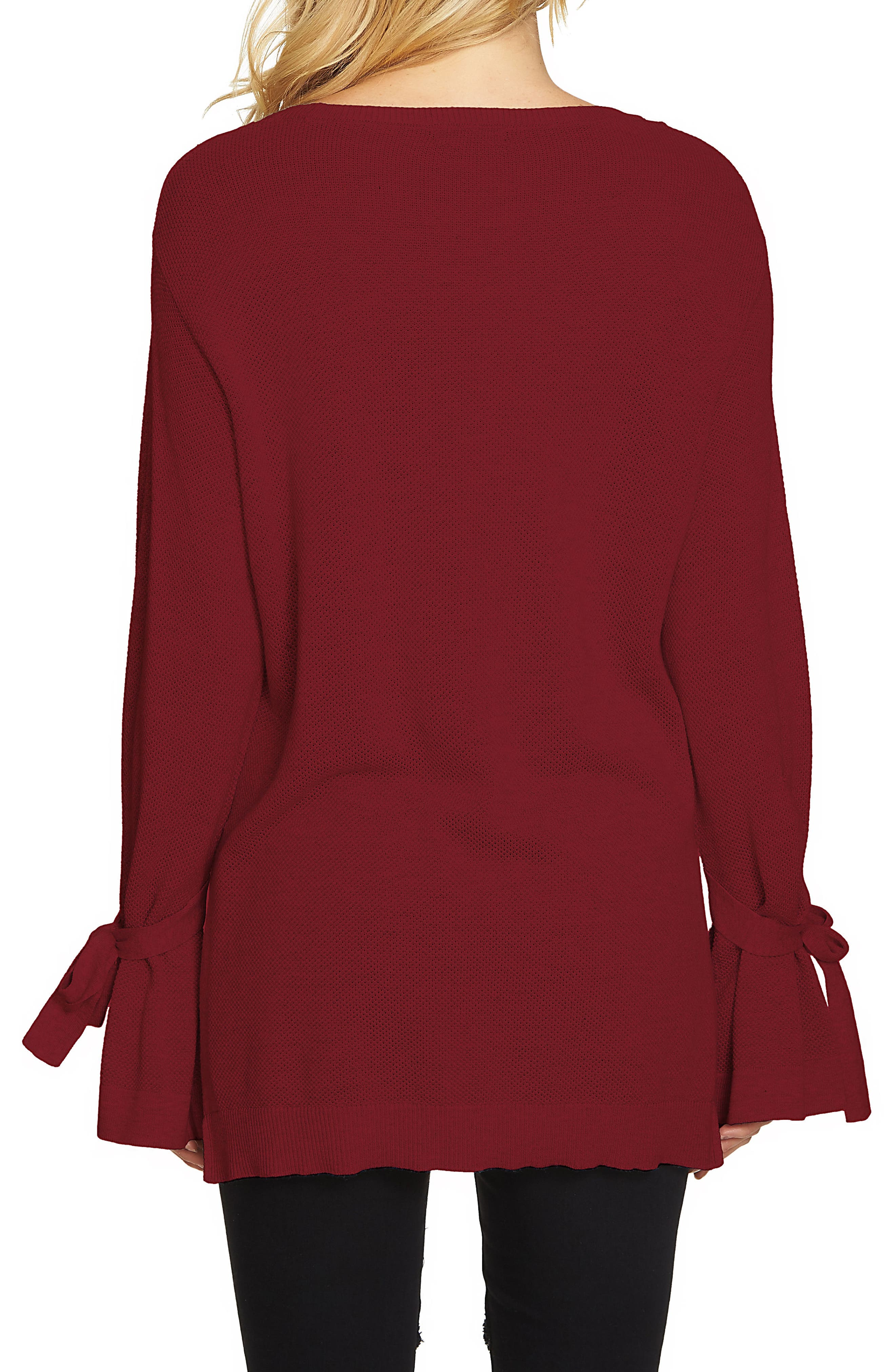 Tied Bell Sleeve Sweater,                             Alternate thumbnail 2, color,                             930