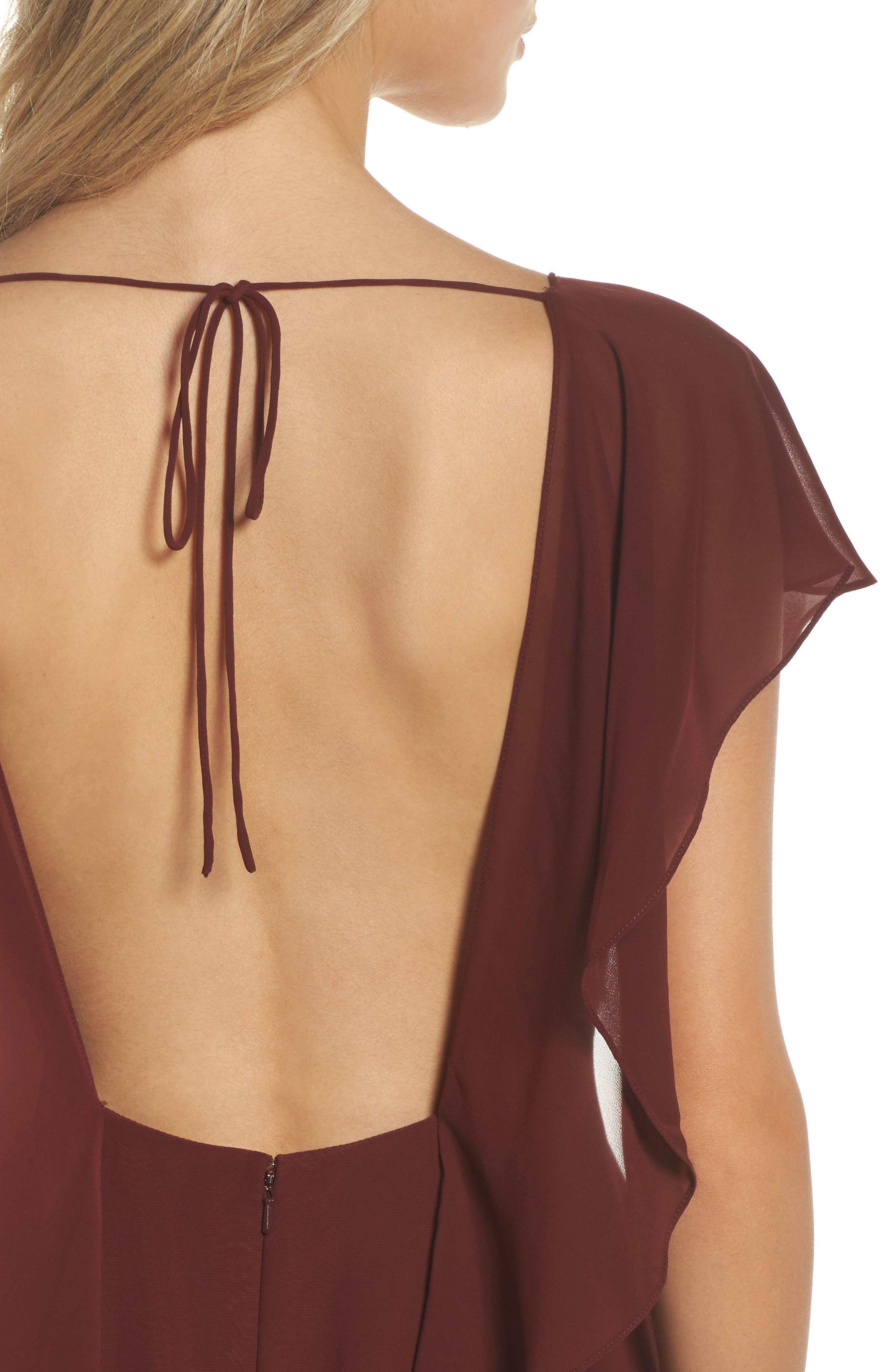 JENNY YOO,                             Alanna Open Back Chiffon Gown,                             Alternate thumbnail 4, color,                             932