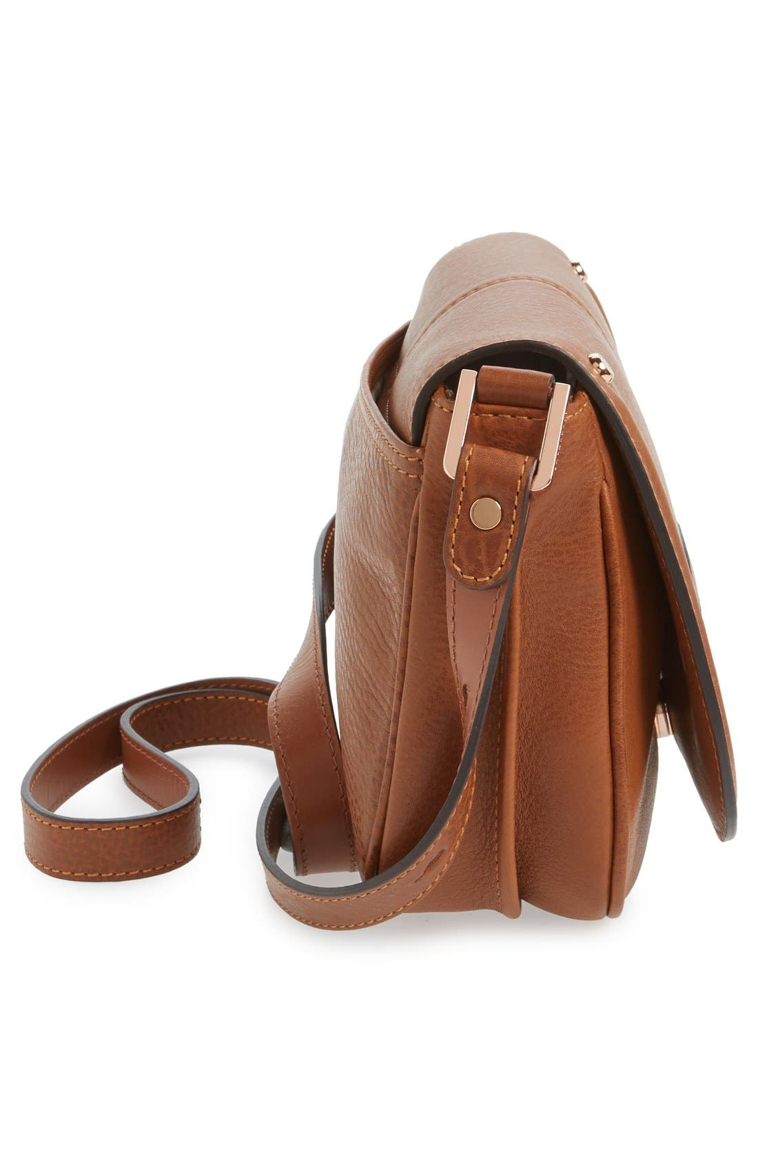 'Small Mystery' Leather Crossbody Bag,                             Alternate thumbnail 6, color,