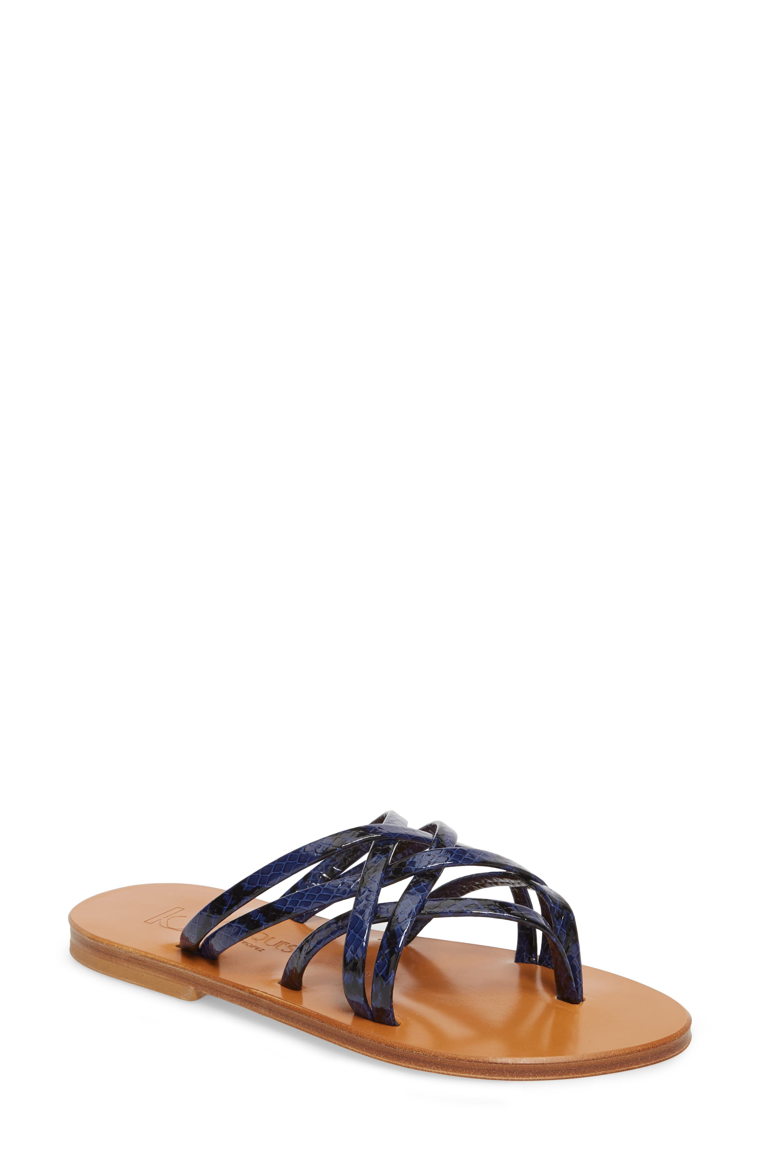 K. Jacques St. Tropez Strappy Thong Sandal,                             Main thumbnail 2, color,