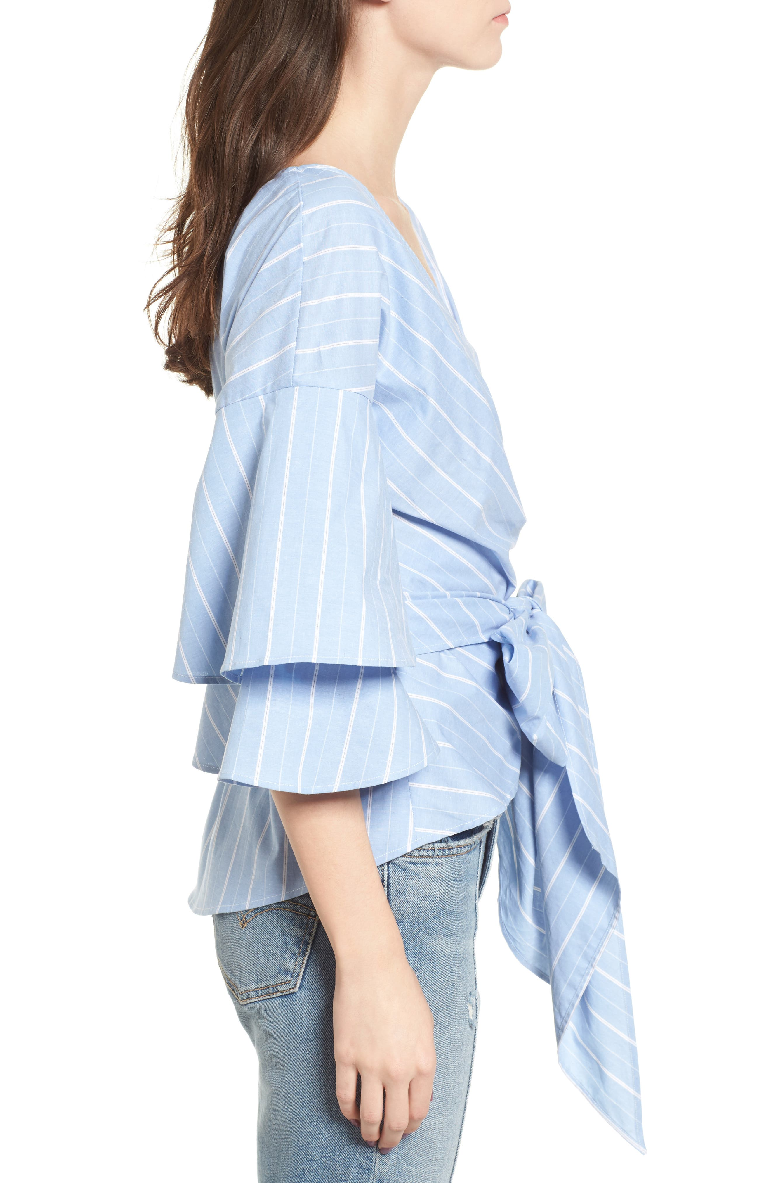 Beckett Tiered Bell Sleeve Top,                             Alternate thumbnail 18, color,