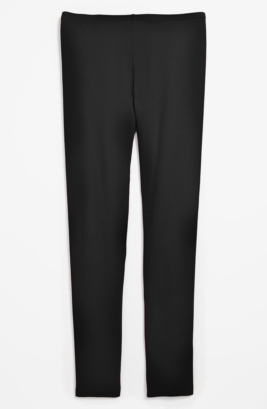 'Core' Leggings,                         Main,                         color, BLACK