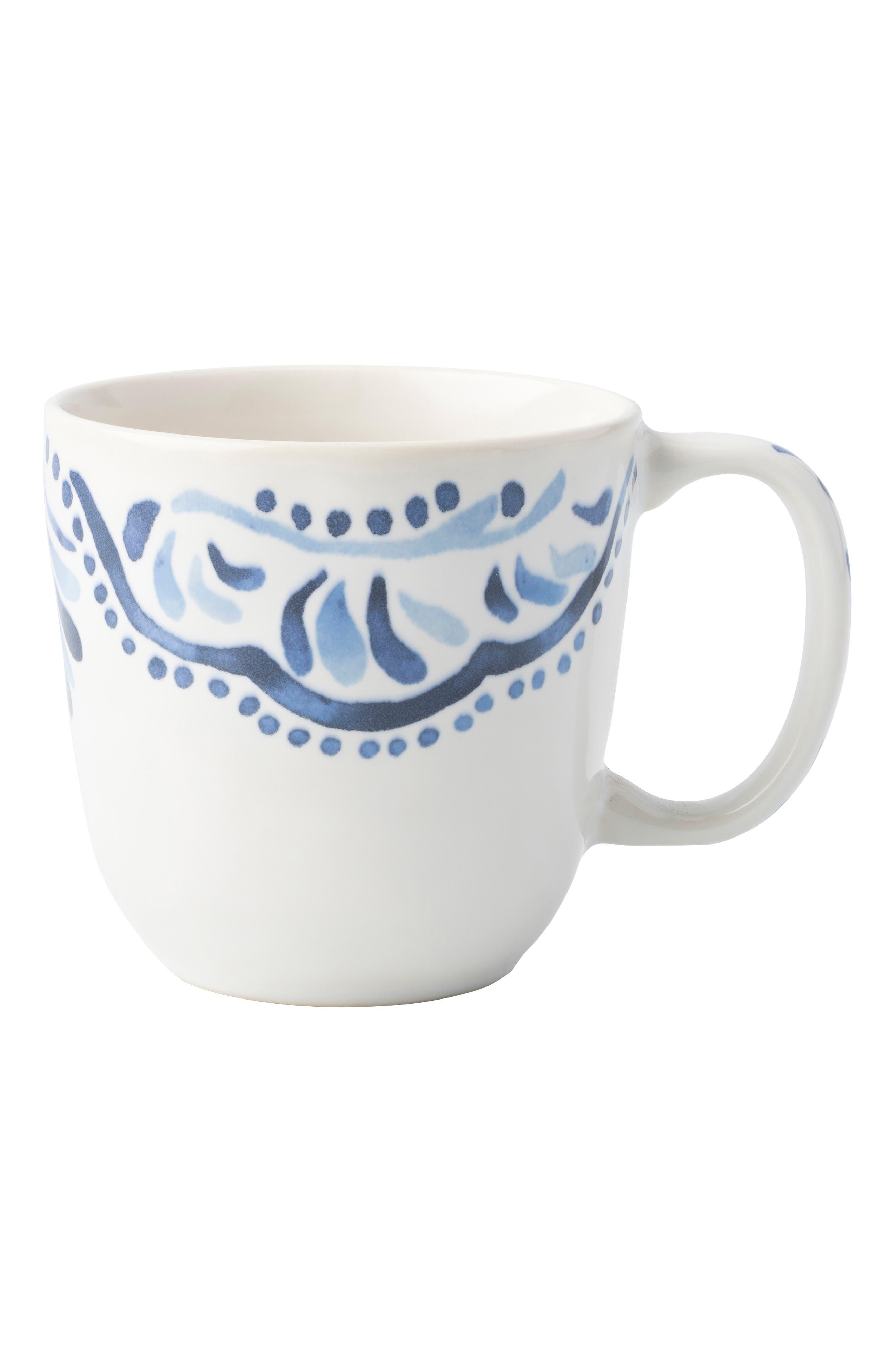 Wanderlust Collection - Iberian Journey Ceramic Coffee/Tea Cup,                         Main,                         color, INDIGO