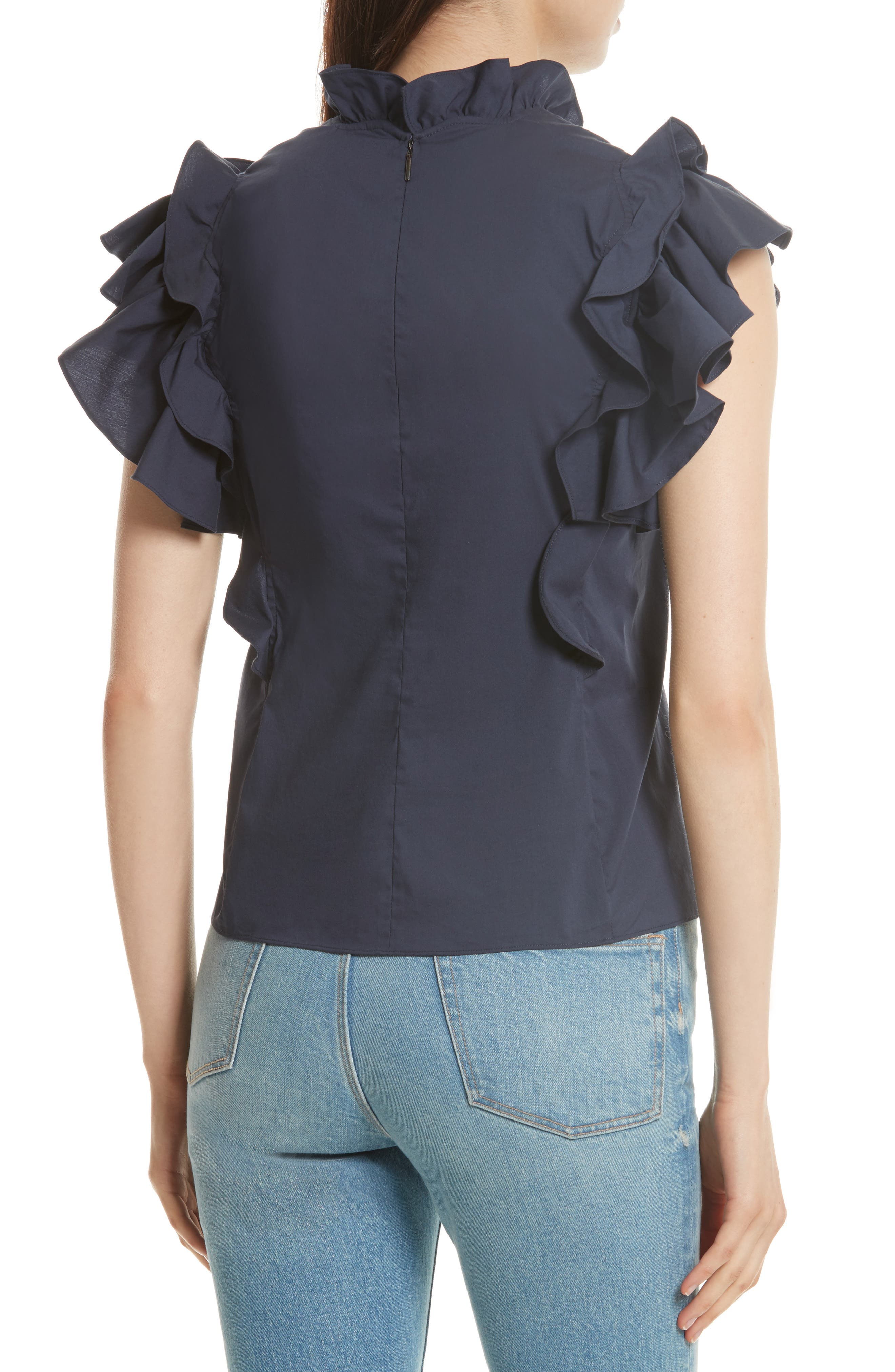 Embellished Sateen Top,                             Alternate thumbnail 2, color,                             403