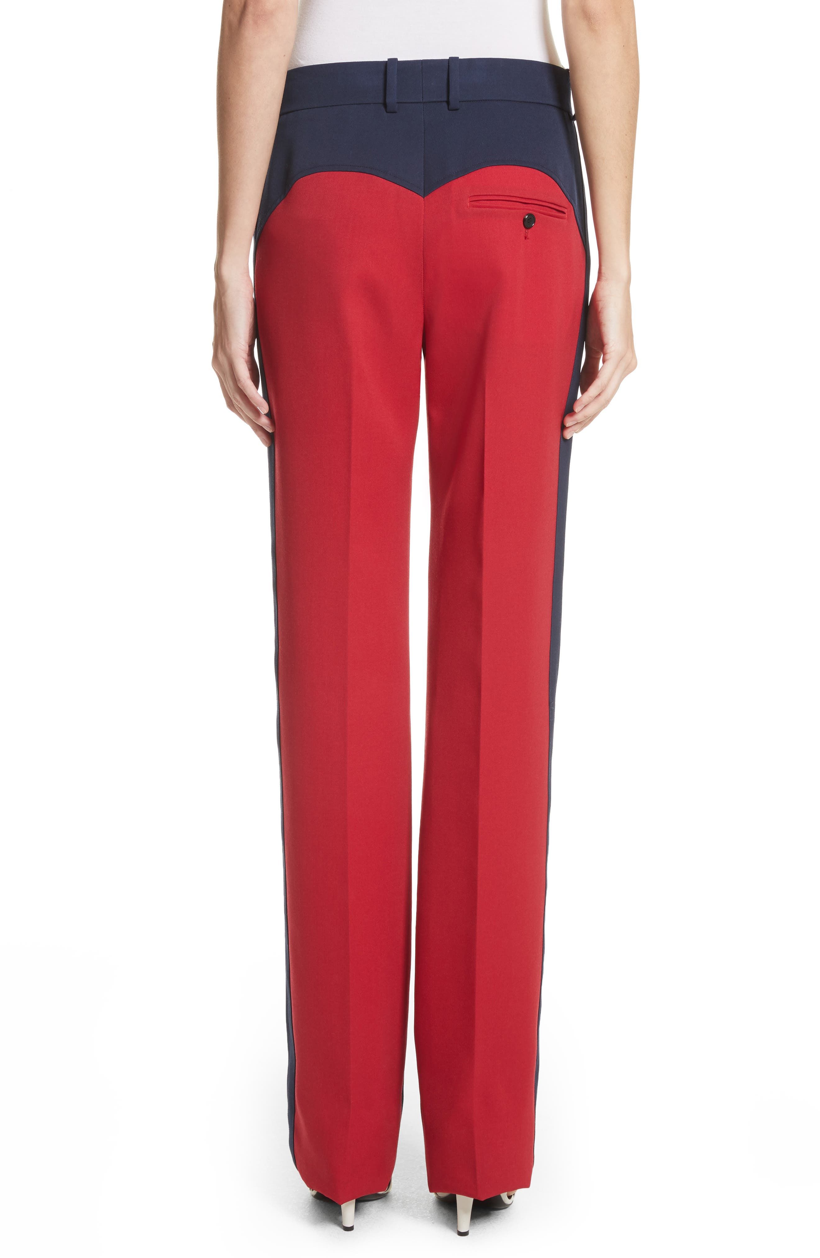 Colorblock Wool Trousers,                             Alternate thumbnail 2, color,