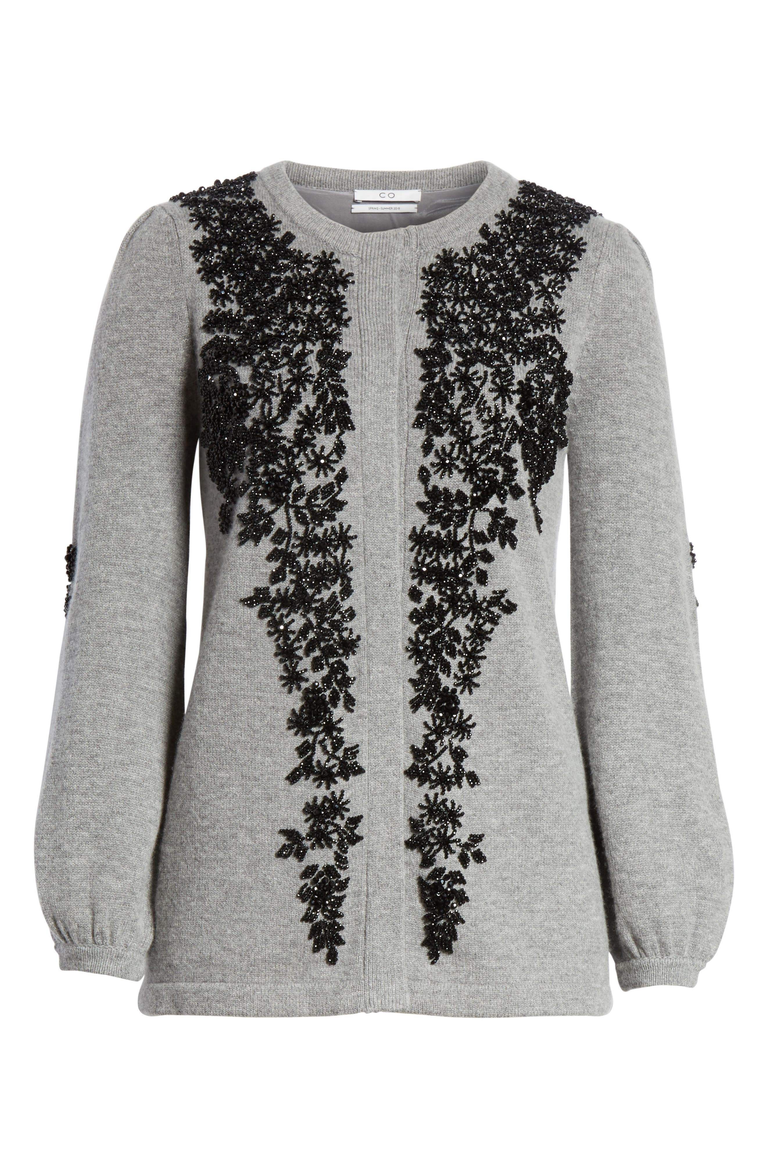 Beaded Wool & Cashmere Sweater,                             Alternate thumbnail 6, color,