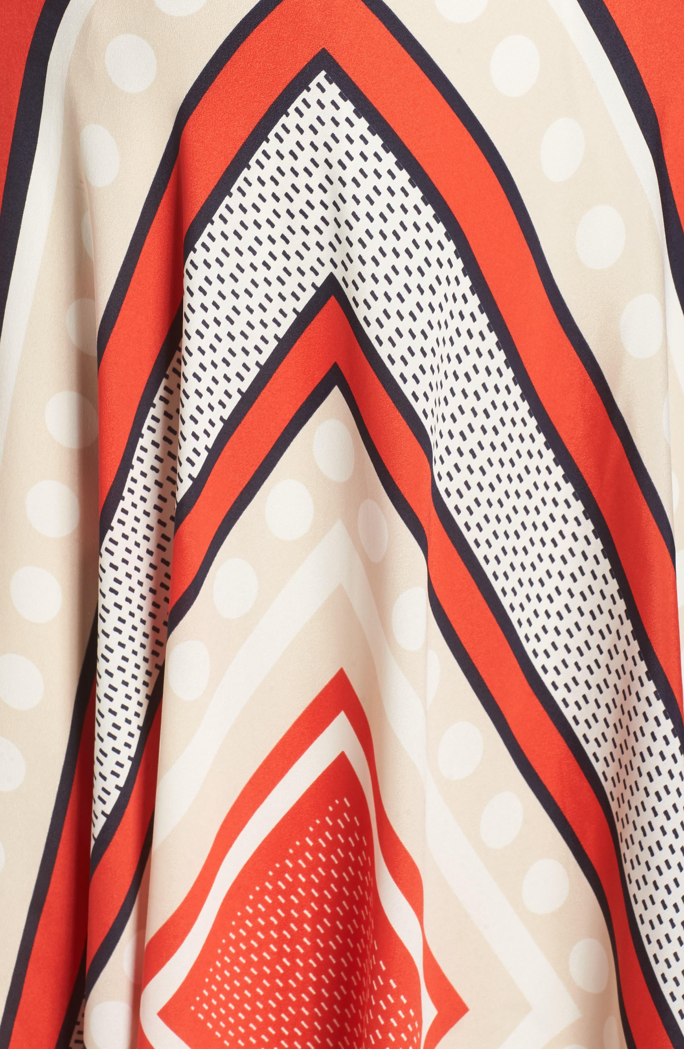 Scarf Print Woven Maxi Dress,                             Alternate thumbnail 7, color,                             PRINT