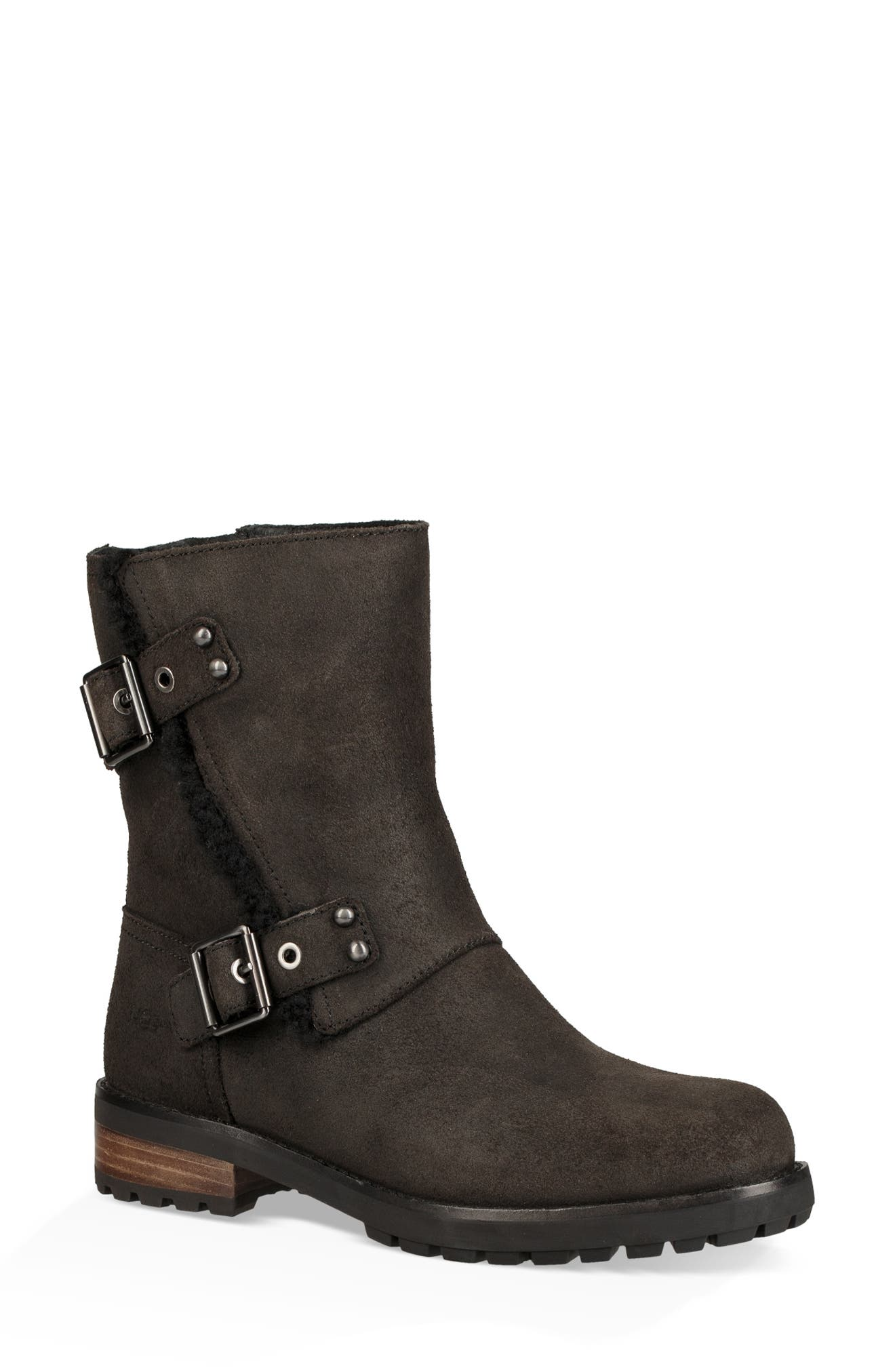 Niels II Water Resistant Bootie,                         Main,                         color, BLACK